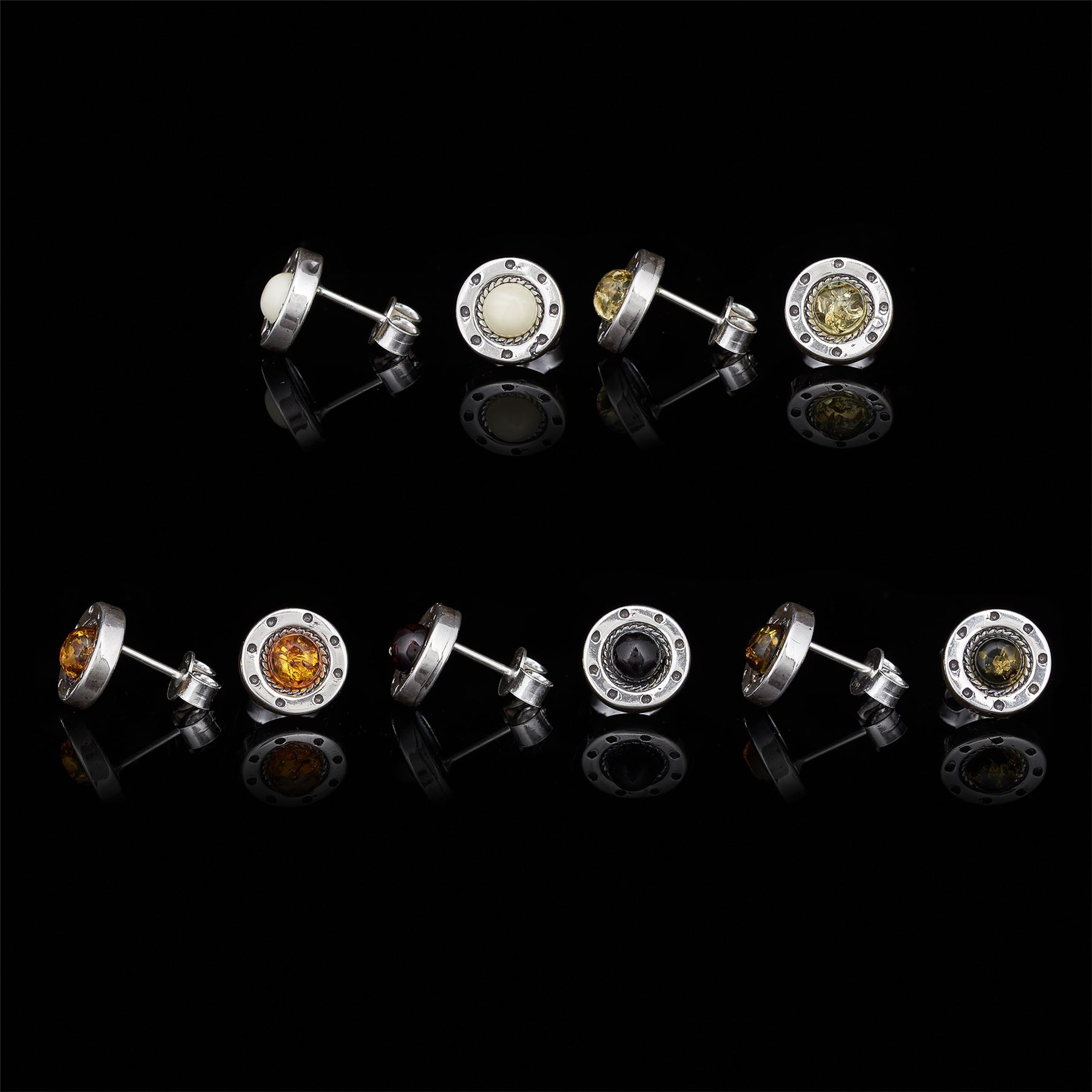 Amberta-Genuine-925-Sterling-Silver-Earrings-with-Natural-Baltic-Amber-Gemstone thumbnail 53