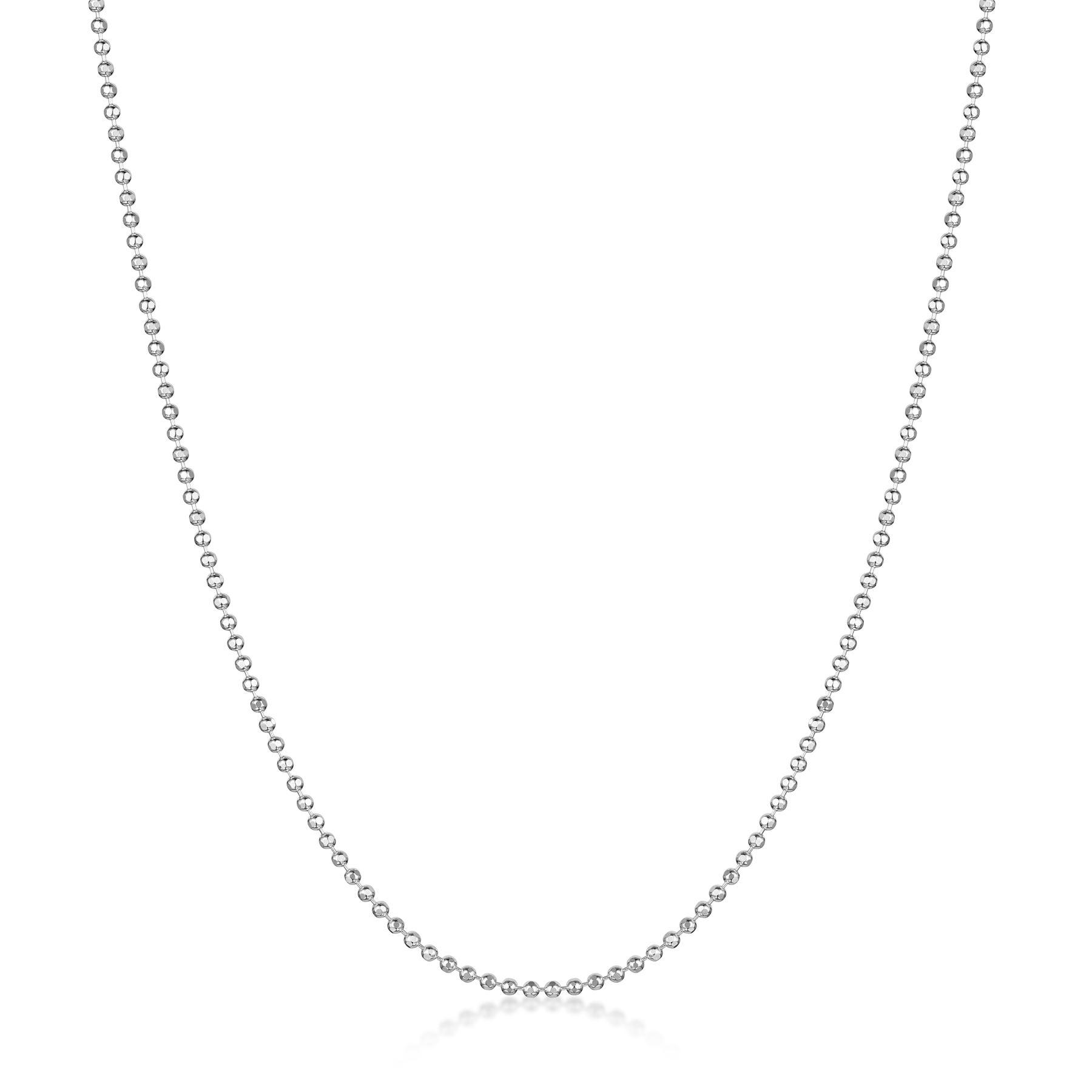 Amberta-Collar-en-Autentica-Plata-De-Ley-925-Cadena-de-Bola-Elegante-para-Mujer miniatura 6
