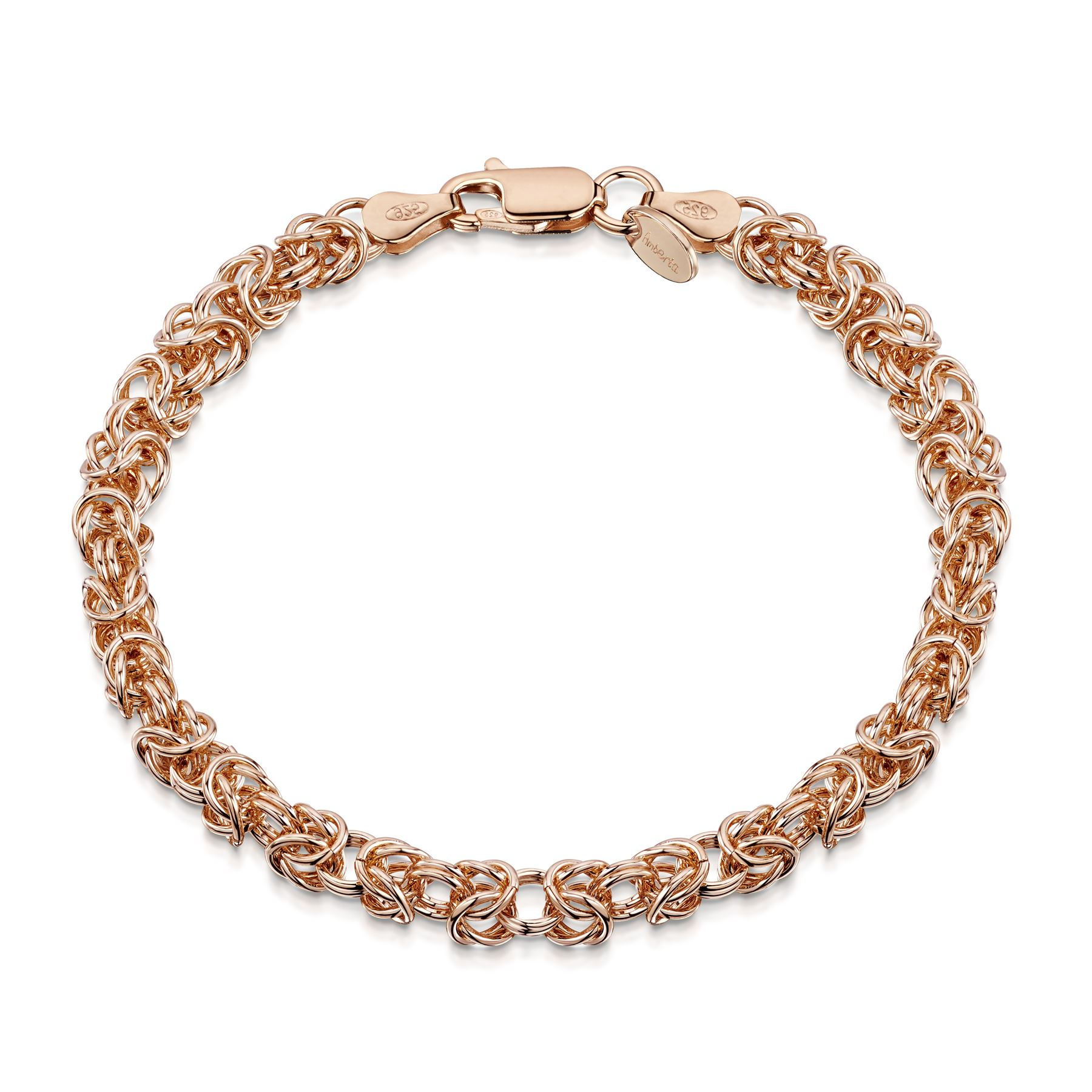 Amberta-Genuine-Real-925-Sterling-Silver-Chain-Bracelet-for-Women-from-Italy miniature 20