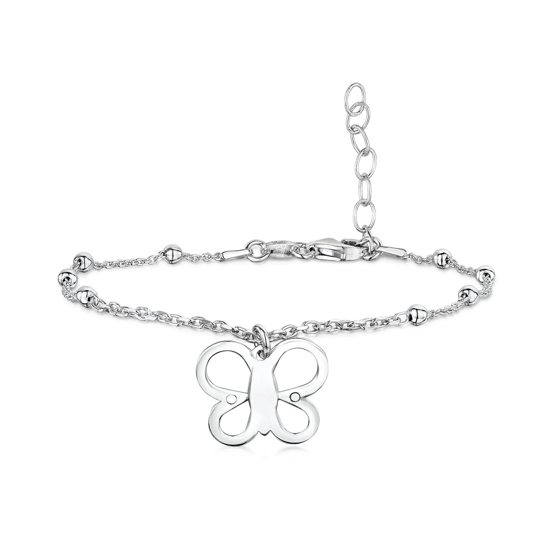 Amberta-Jewelry-925-Sterling-Silver-Adjustable-Bracelet-Italian-Bangle-for-Women miniature 48