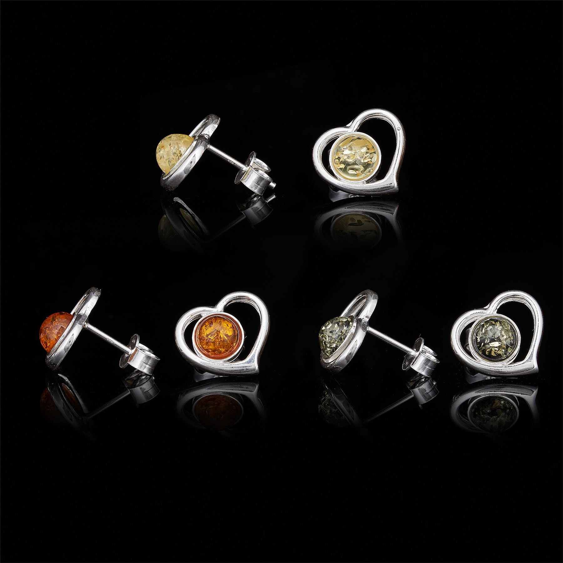 Amberta-Genuine-925-Sterling-Silver-Earrings-with-Natural-Baltic-Amber-Gemstone thumbnail 84