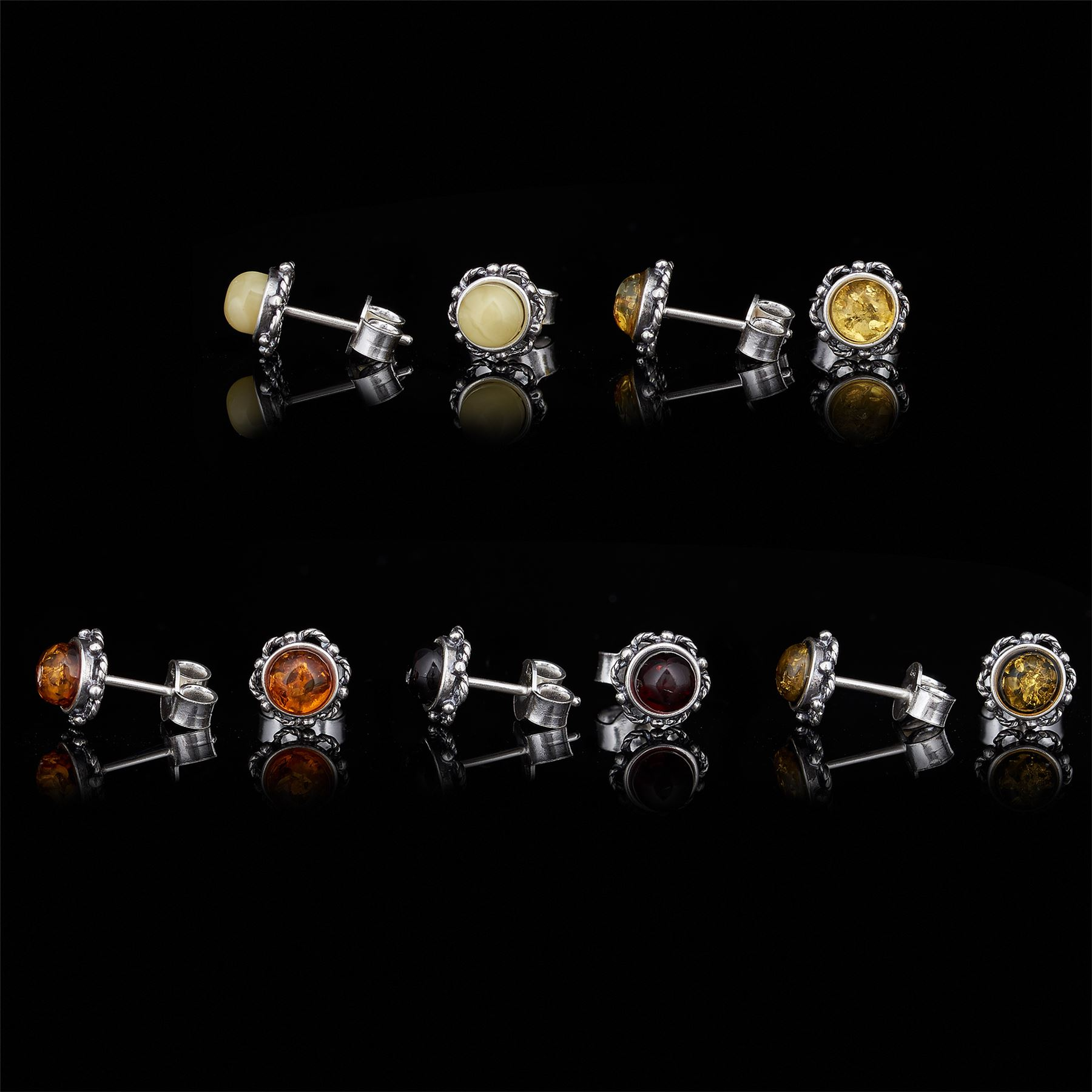 Amberta-Genuine-925-Sterling-Silver-Earrings-with-Natural-Baltic-Amber-Gemstone thumbnail 109