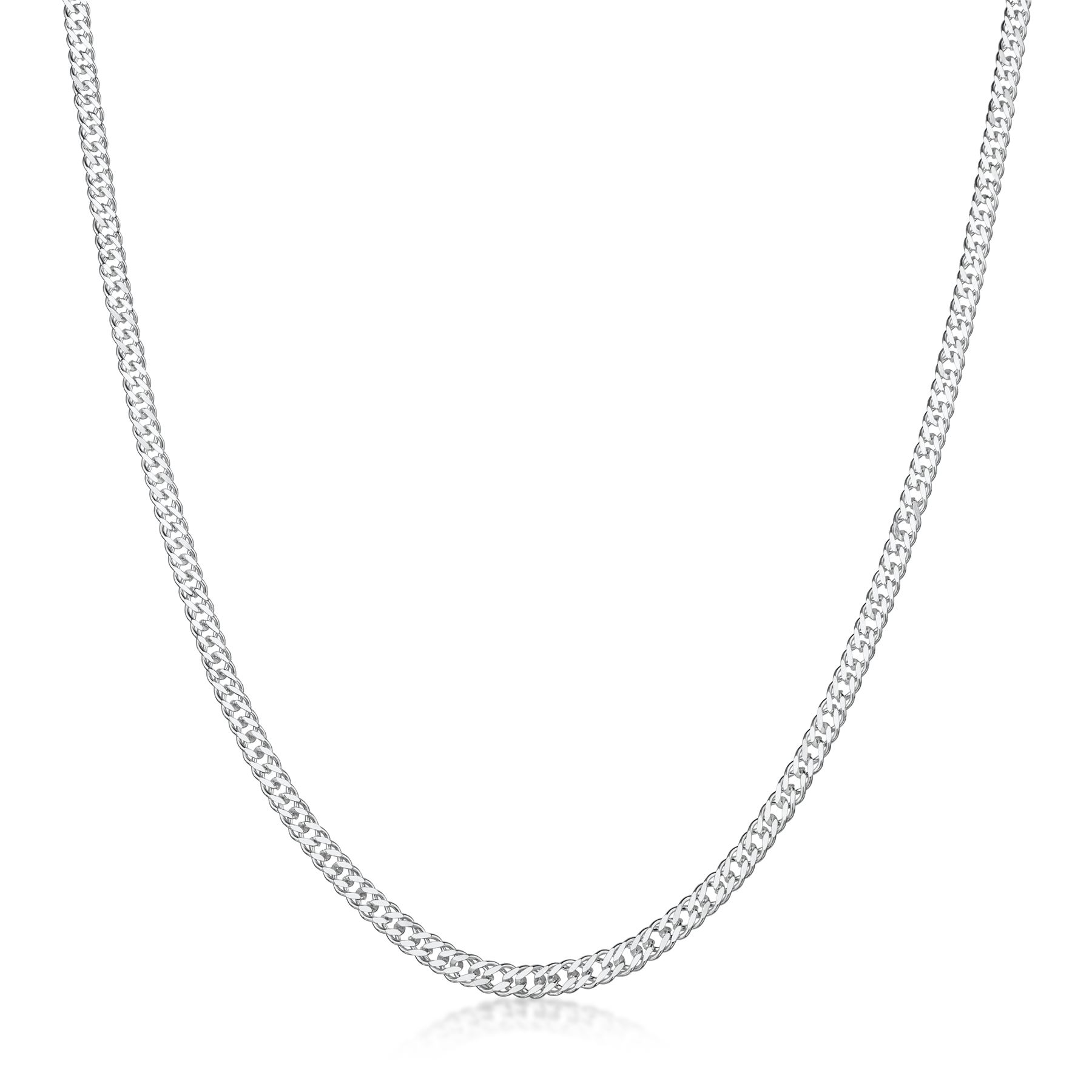 Amberta-Genuine-Real-925-Sterling-Silver-Long-Curb-Necklace-Chain-Made-in-Italy thumbnail 15