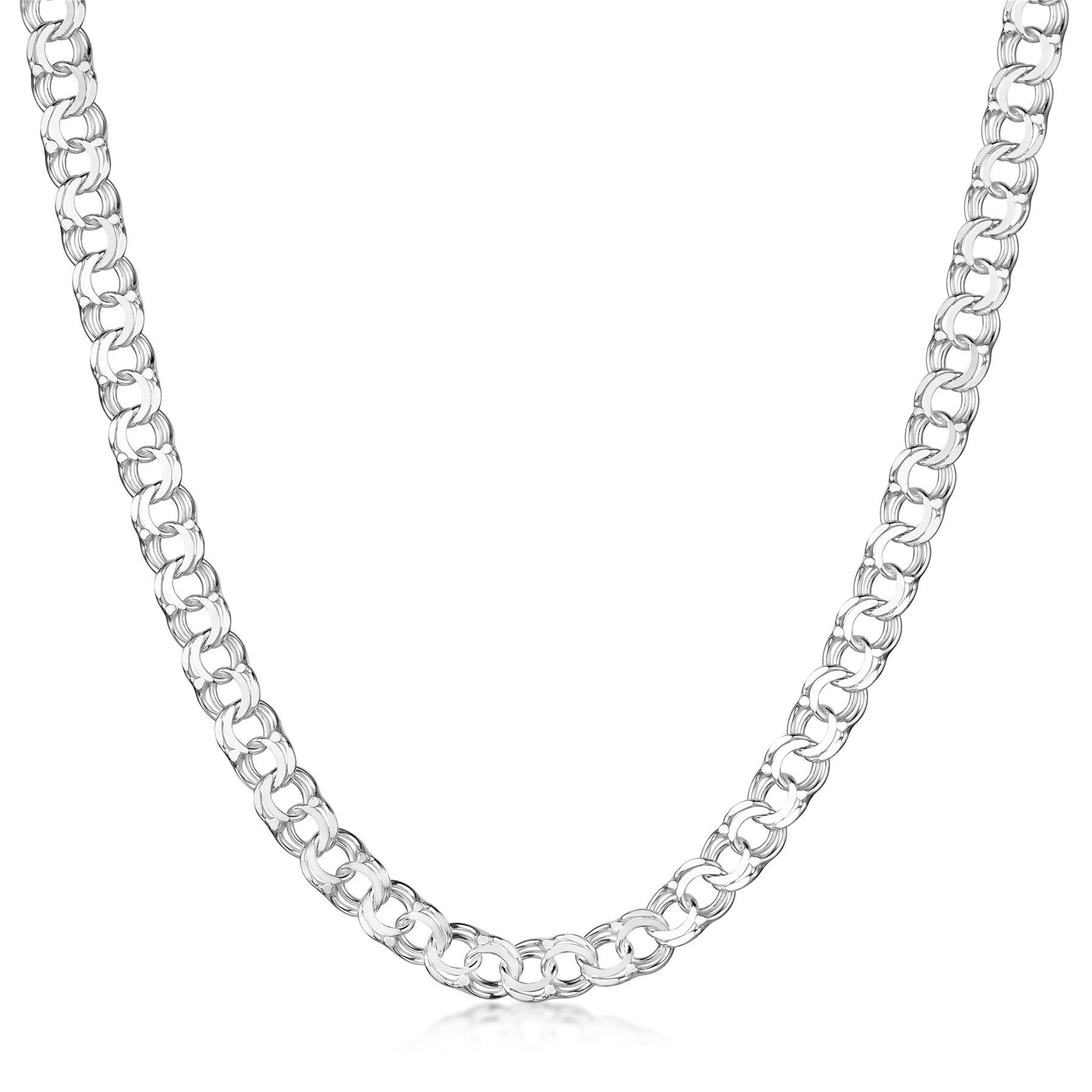 Amberta-Collar-en-Plata-De-Ley-925-Autentica-Cadena-para-Mujer-y-Hombre-Italiana miniatura 131