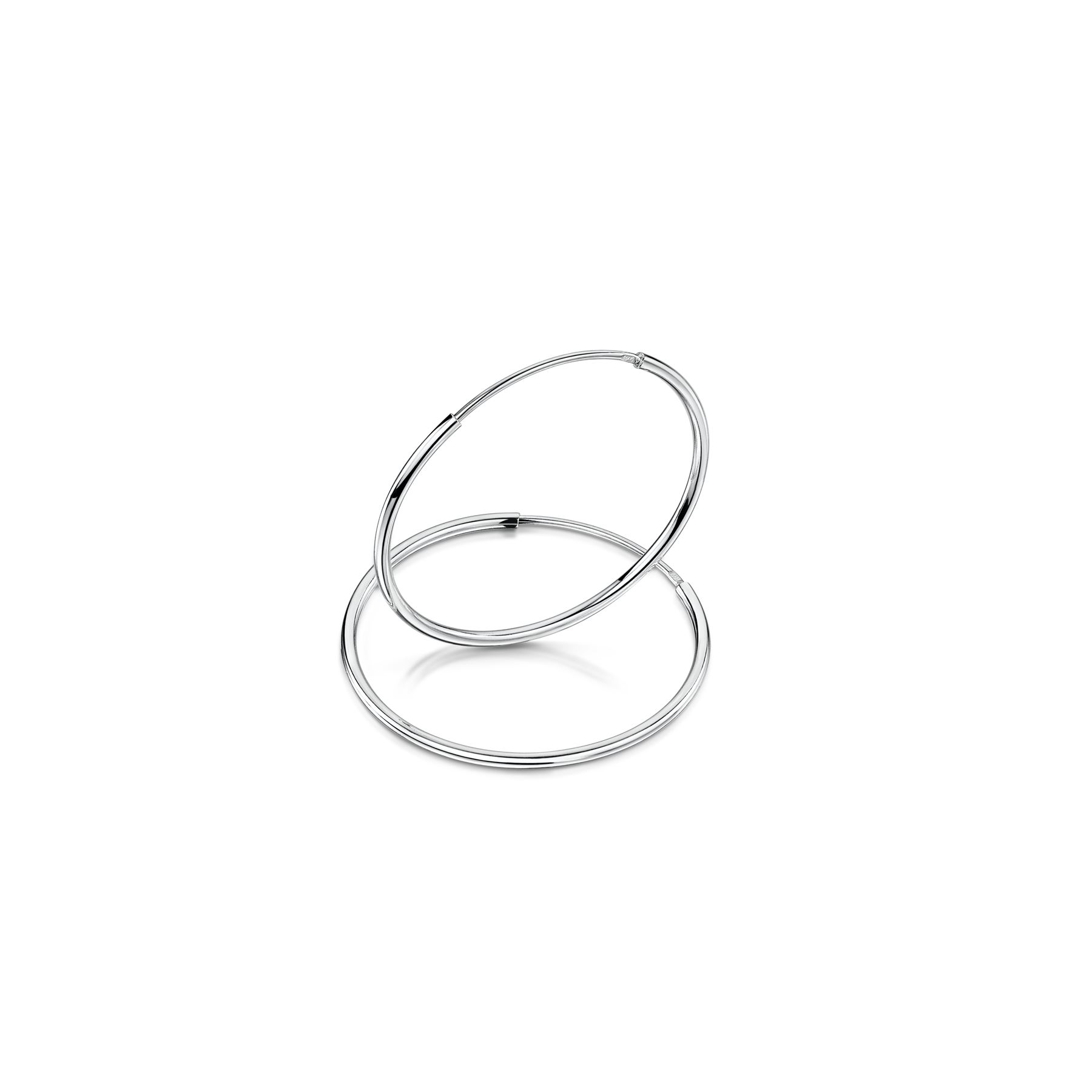Amberta-Pendientes-para-Mujer-Aros-en-Plata-De-Ley-925-Autentica-Estilo-Clasico miniatura 27