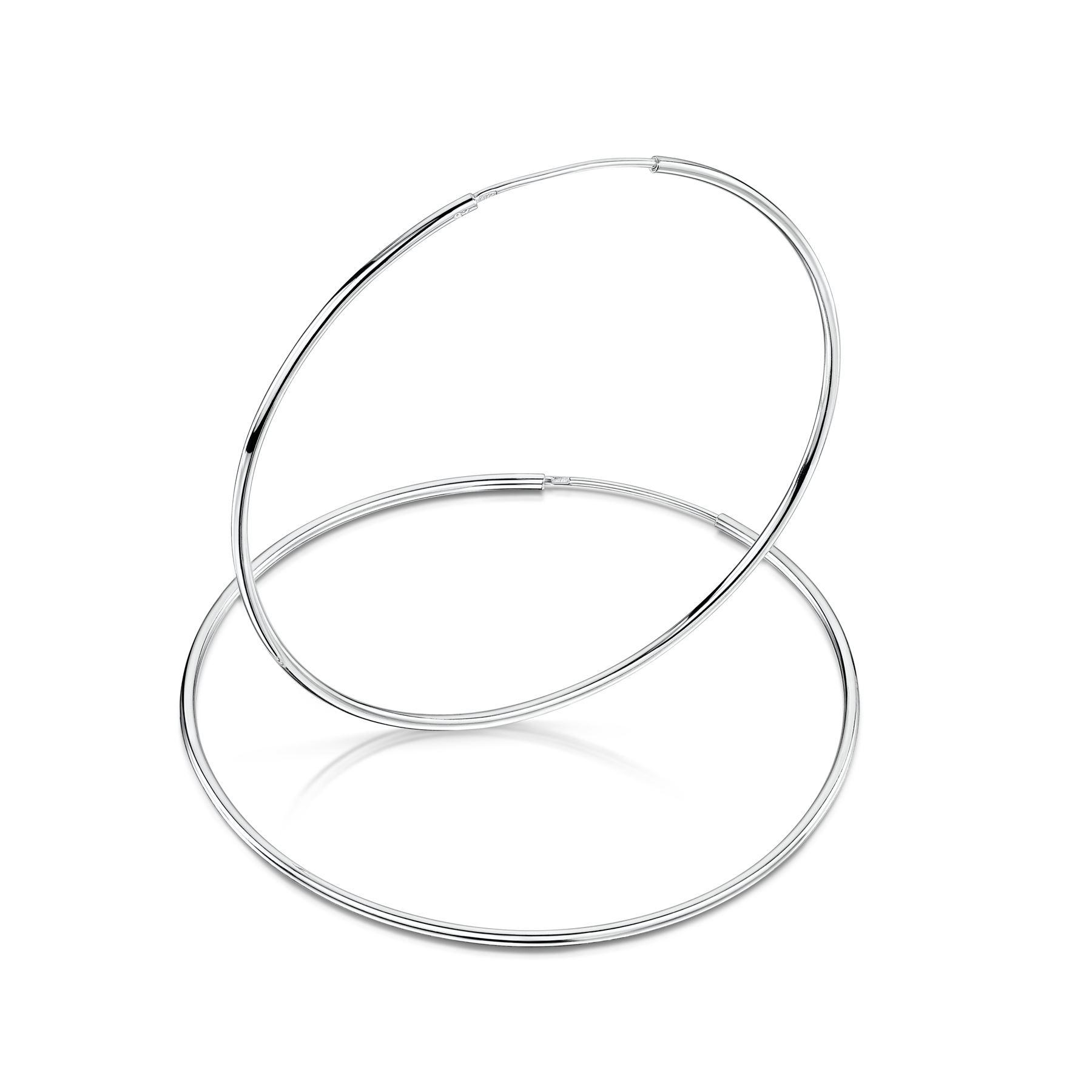 Amberta-Pendientes-para-Mujer-Aros-en-Plata-De-Ley-925-Autentica-Estilo-Clasico miniatura 45