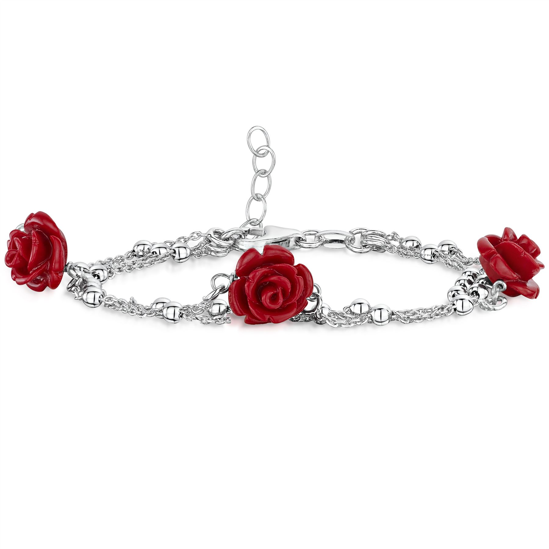 Amberta-Jewelry-925-Sterling-Silver-Adjustable-Bracelet-Italian-Bangle-for-Women miniature 24