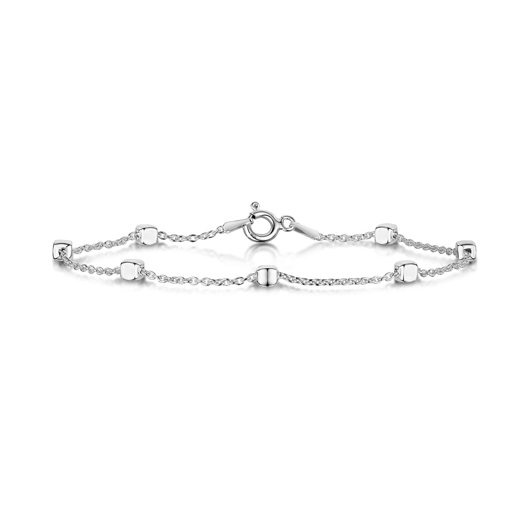 Amberta-Bijoux-Bracelet-en-Vrai-Argent-Sterling-925-Chaine-pour-Femme-a-la-Mode thumbnail 14