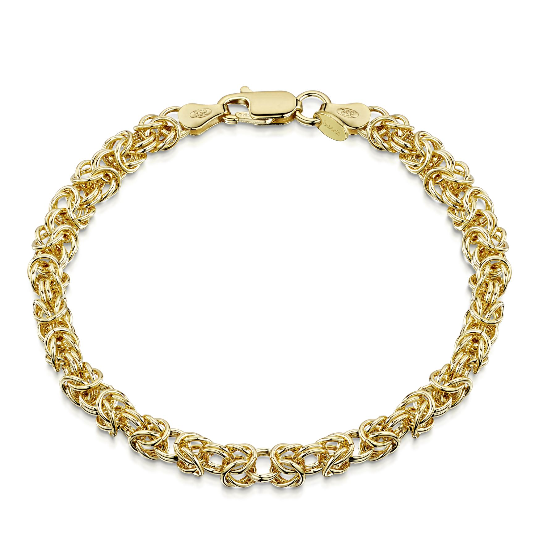 Amberta-Genuine-Real-925-Sterling-Silver-Chain-Bracelet-for-Women-from-Italy miniature 10
