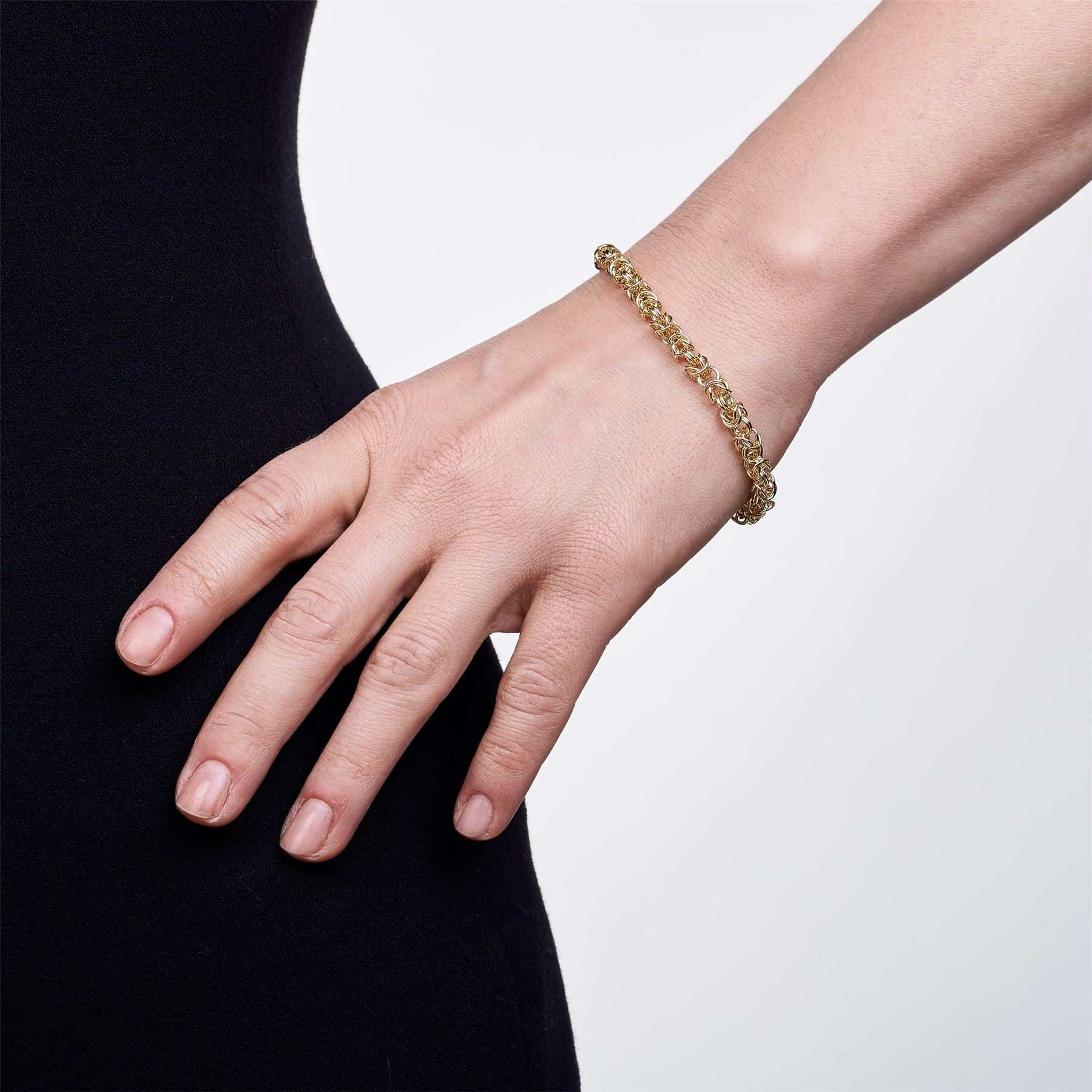 Amberta-Genuine-Real-925-Sterling-Silver-Chain-Bracelet-for-Women-from-Italy miniature 13