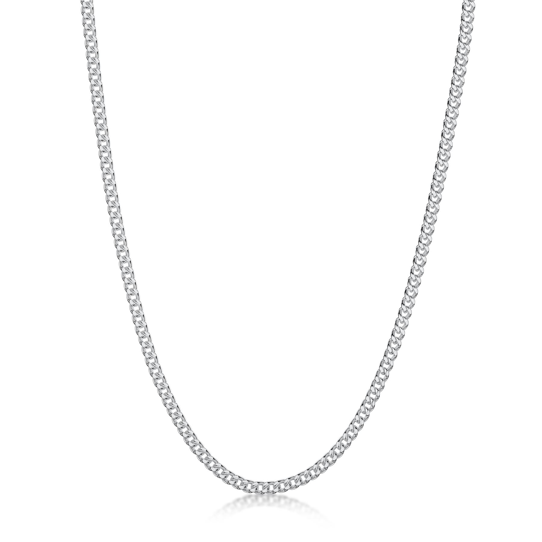 Amberta-Genuine-Real-925-Sterling-Silver-Long-Curb-Necklace-Chain-Made-in-Italy thumbnail 12