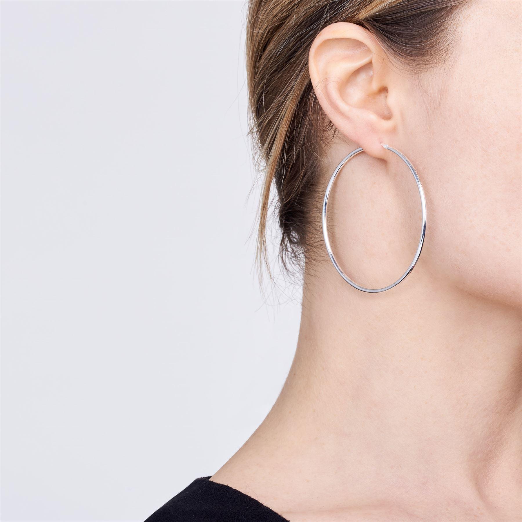 Amberta-Pendientes-para-Mujer-Aros-en-Plata-De-Ley-925-Autentica-Estilo-Clasico miniatura 42