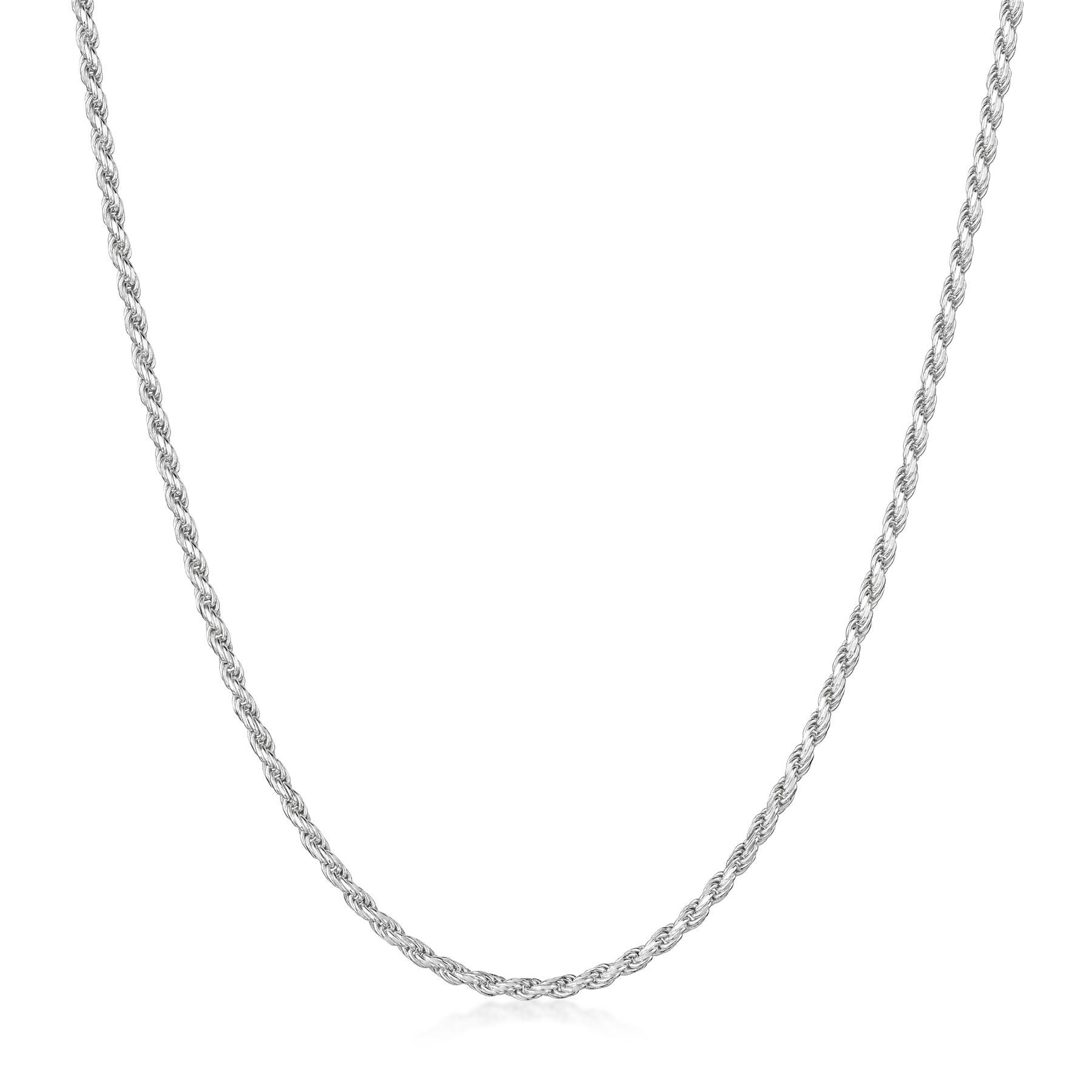 Amberta-Collar-en-Plata-De-Ley-925-Autentica-Cadena-para-Mujer-y-Hombre-Italiana miniatura 61
