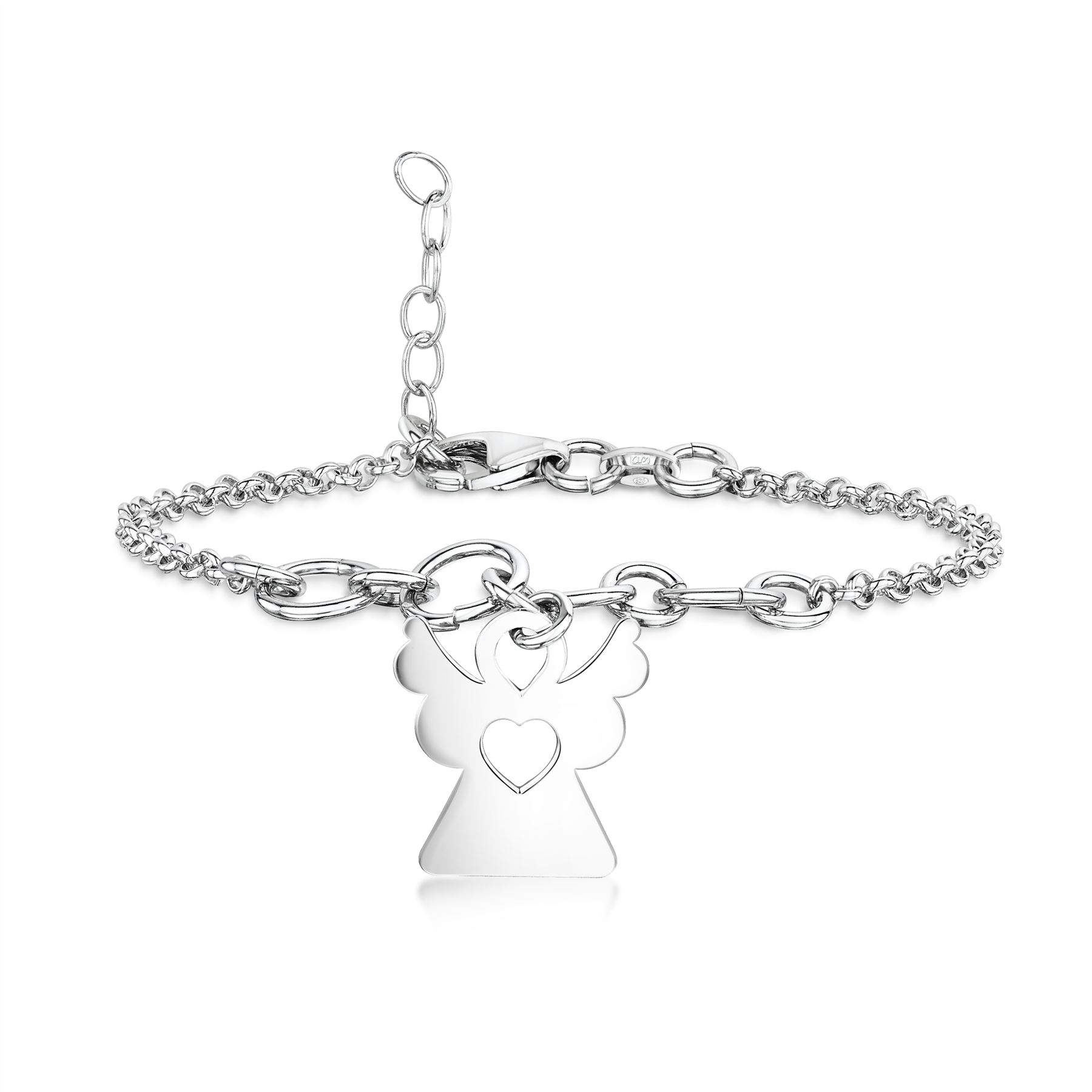 Amberta-Jewelry-925-Sterling-Silver-Adjustable-Bracelet-Italian-Bangle-for-Women miniature 66