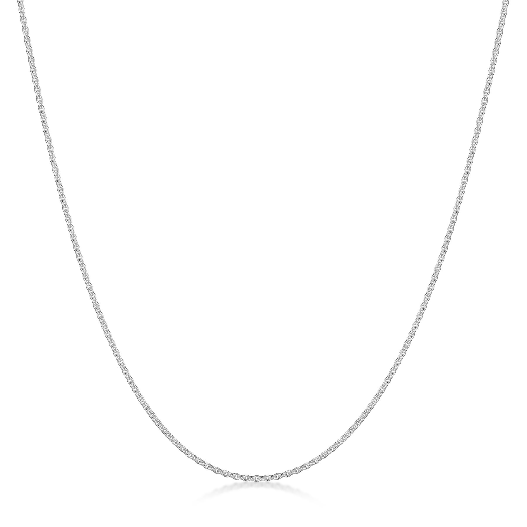 Amberta-Jewelry-Solid-Real-925-Sterling-Silver-Necklace-Chain-Made-in-Italy thumbnail 3