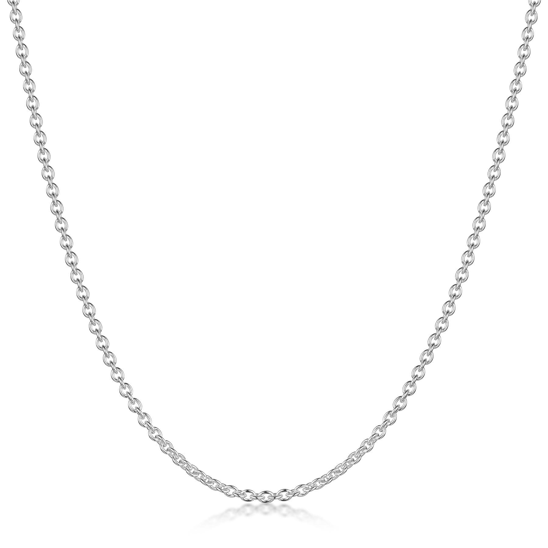 Amberta-Collar-en-Plata-De-Ley-925-Autentica-Cadena-para-Mujer-y-Hombre-Italiana miniatura 5