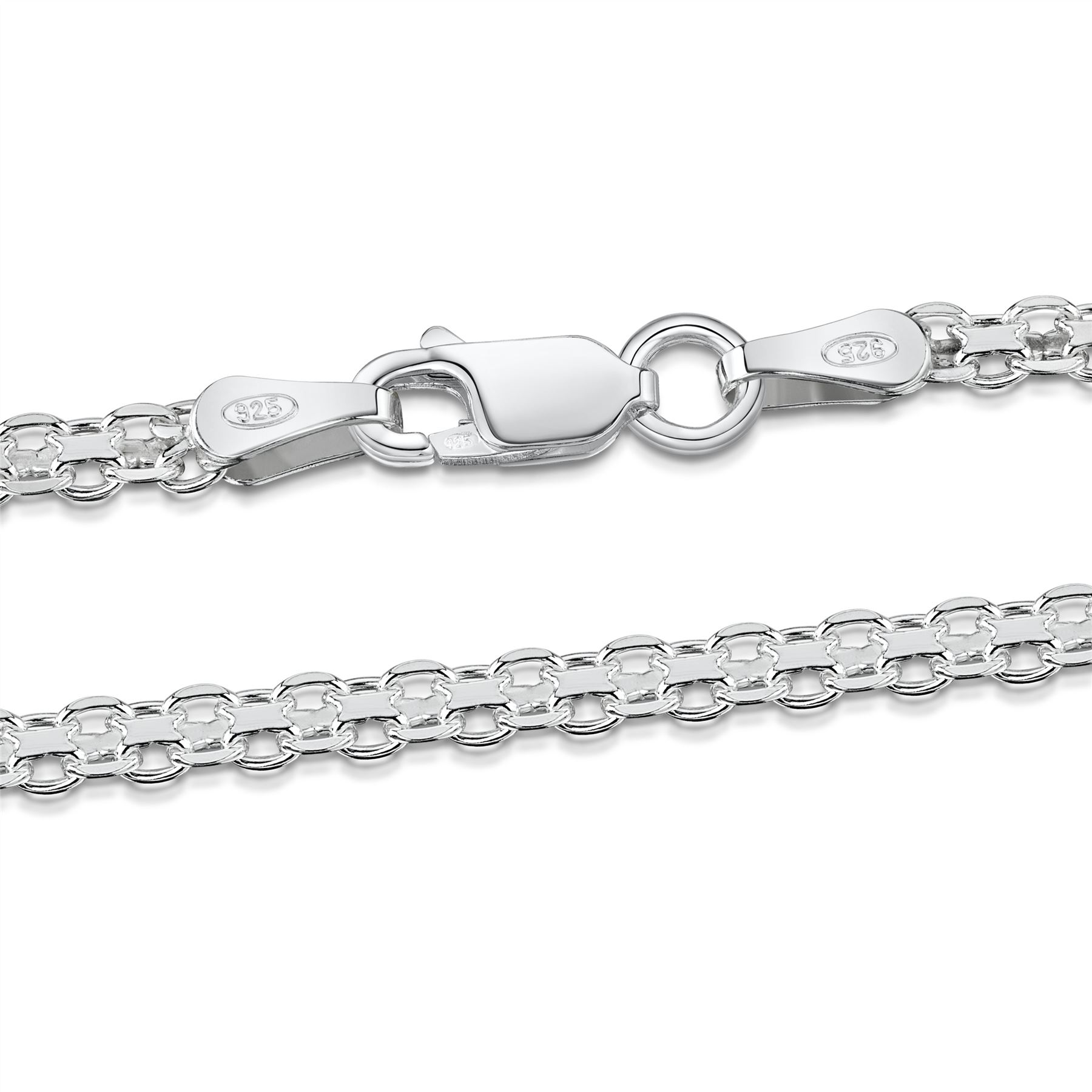 Amberta-Bijoux-Bracelet-en-Vrai-Argent-Sterling-925-Chaine-pour-Femme-a-la-Mode thumbnail 59