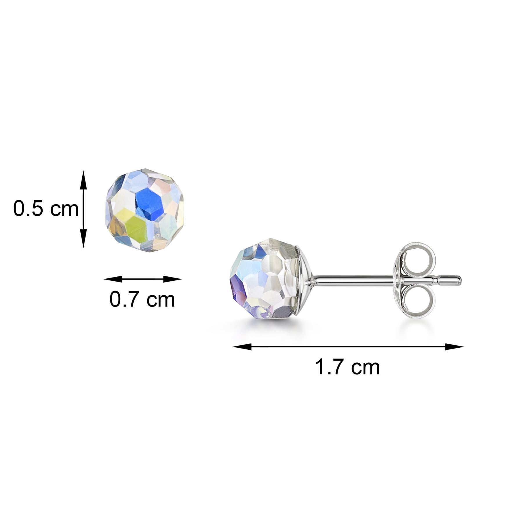 Amberta-925-Sterling-Silver-Earrings-Pair-of-Studs-for-Women-with-5-mm-Gemstones thumbnail 12