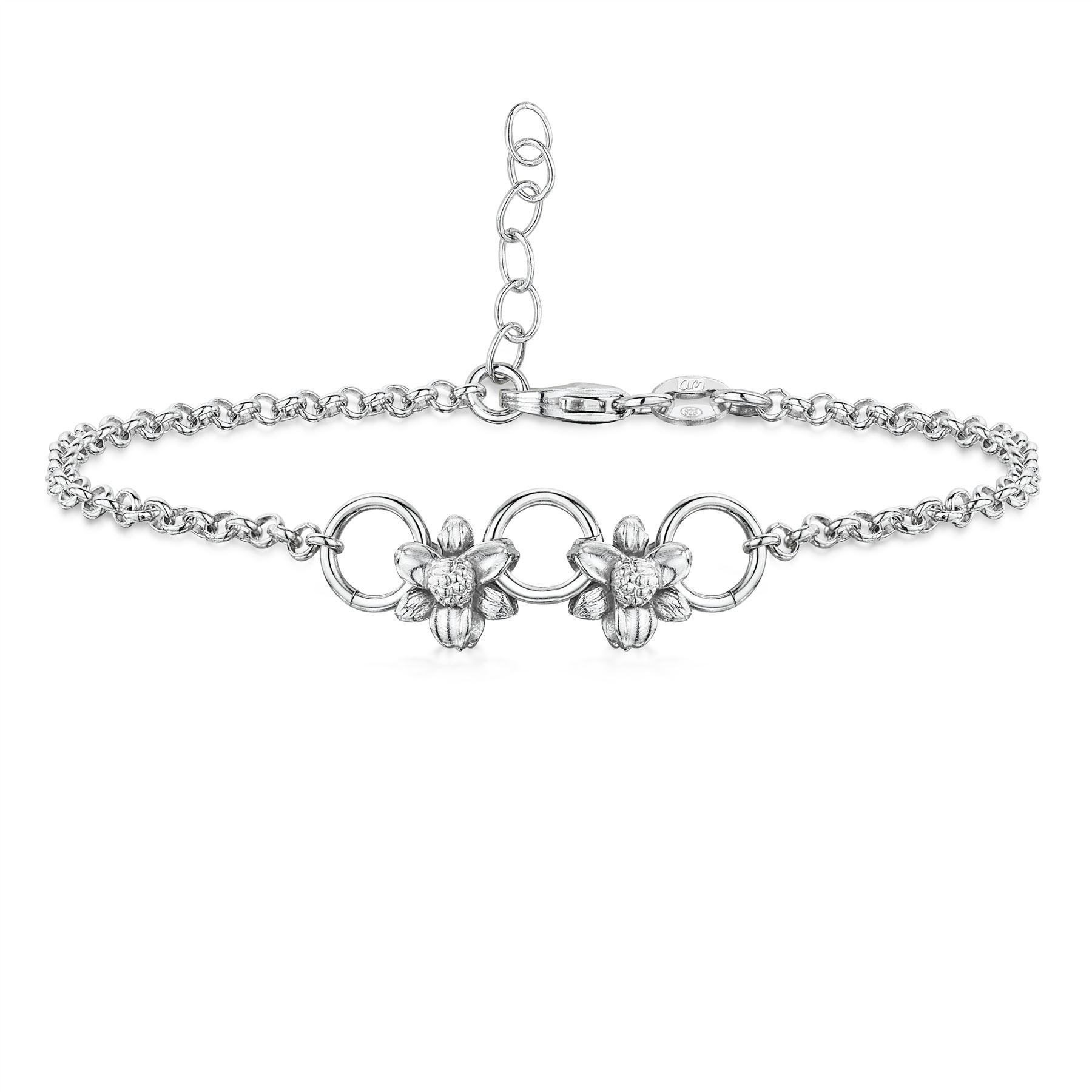 Amberta-Jewelry-925-Sterling-Silver-Adjustable-Anklet-for-Women-Made-in-Italy miniature 63