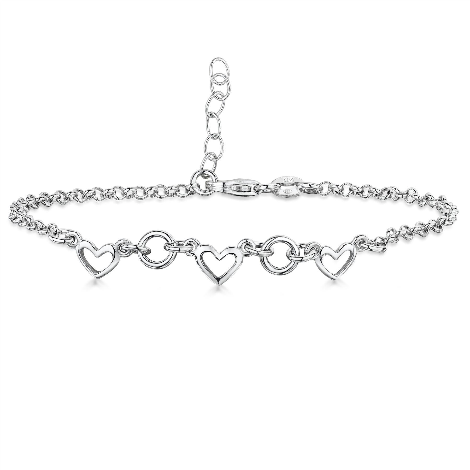 Amberta-Jewelry-925-Sterling-Silver-Adjustable-Bracelet-Italian-Bangle-for-Women miniature 63