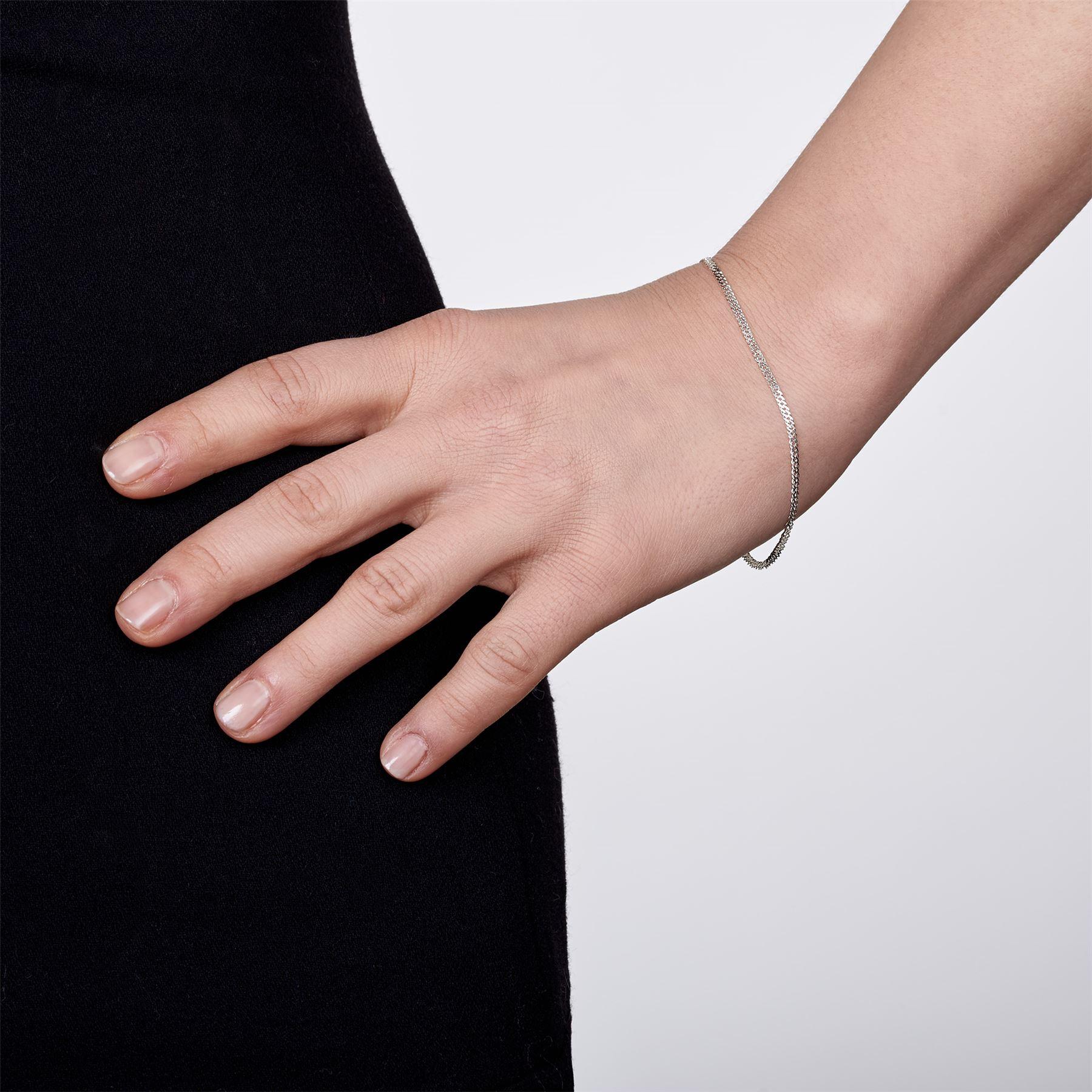 Amberta-Bijoux-Bracelet-en-Vrai-Argent-Sterling-925-Chaine-pour-Femme-a-la-Mode thumbnail 55