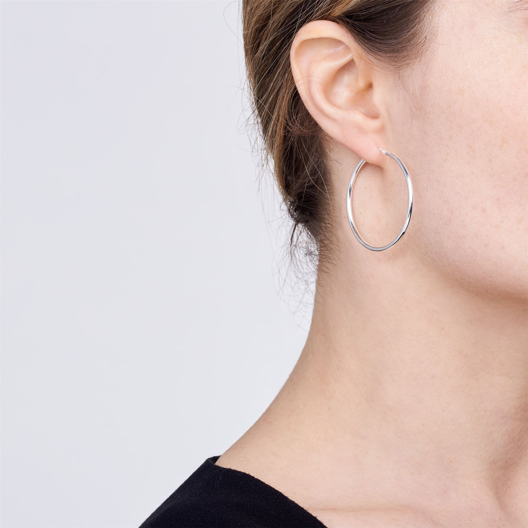 Amberta-Pendientes-para-Mujer-Aros-en-Plata-De-Ley-925-Autentica-Estilo-Clasico miniatura 31
