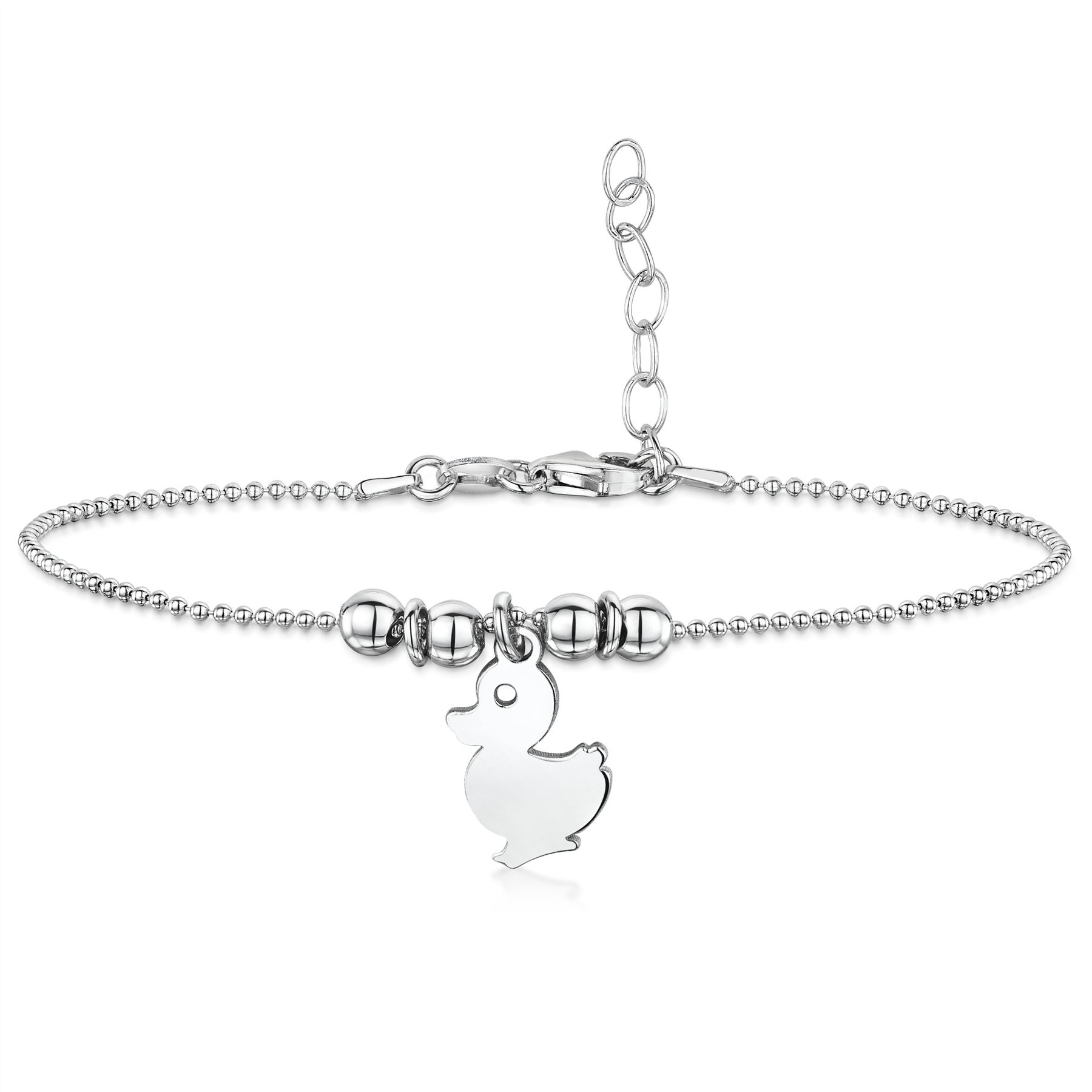 Amberta-Jewelry-925-Sterling-Silver-Adjustable-Anklet-for-Women-Made-in-Italy miniature 15