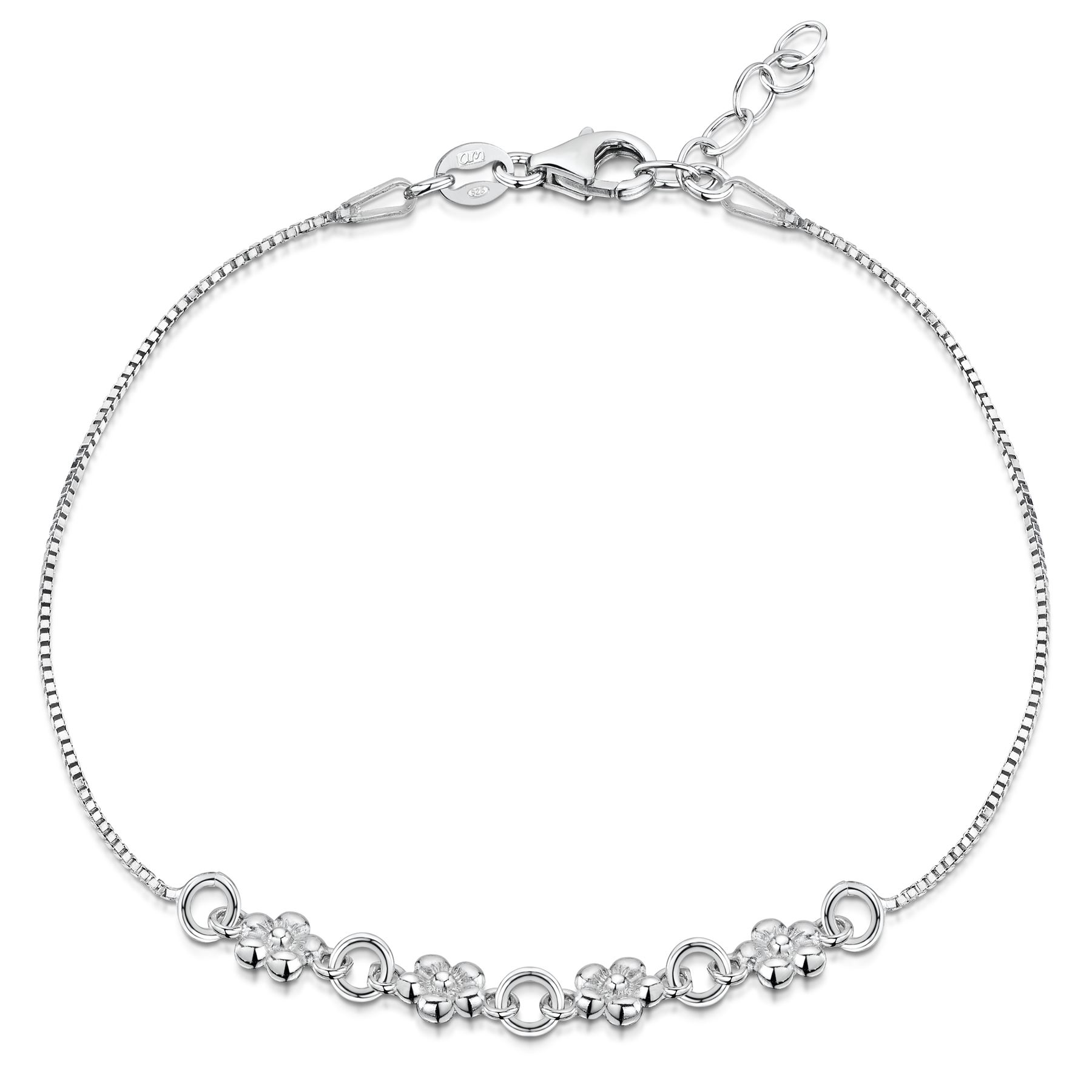 Amberta-Jewelry-925-Sterling-Silver-Adjustable-Bracelet-Italian-Bangle-for-Women thumbnail 11