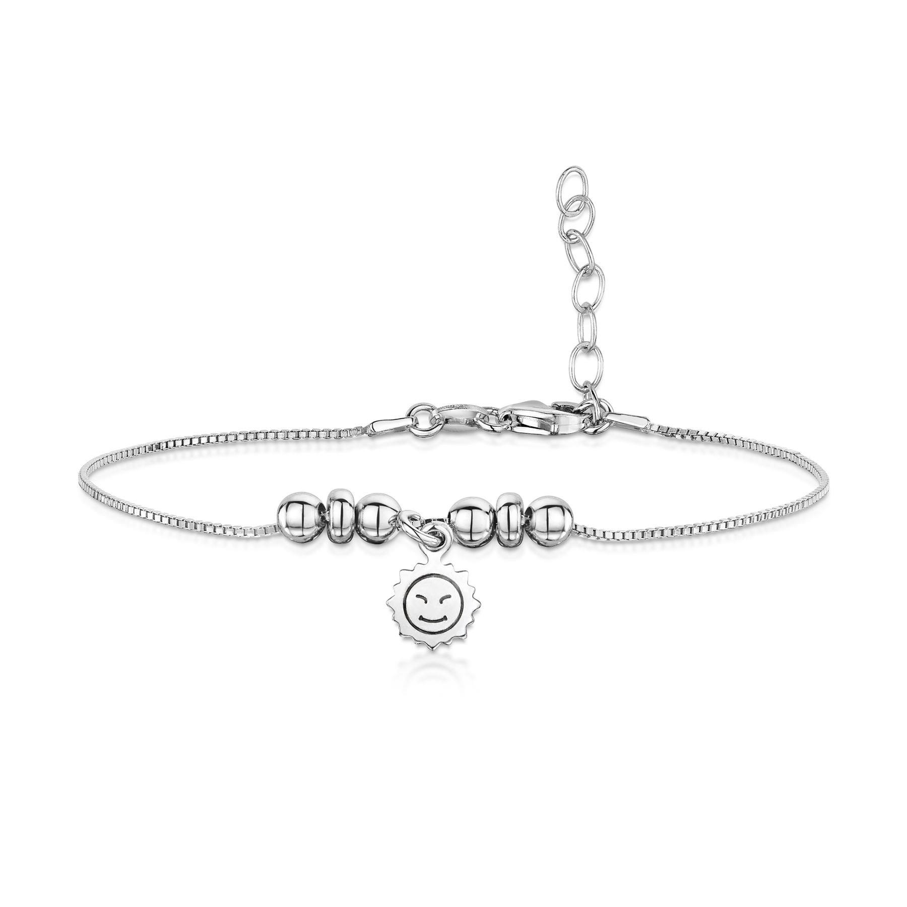 Amberta-Jewelry-925-Sterling-Silver-Adjustable-Anklet-for-Women-Made-in-Italy miniature 3