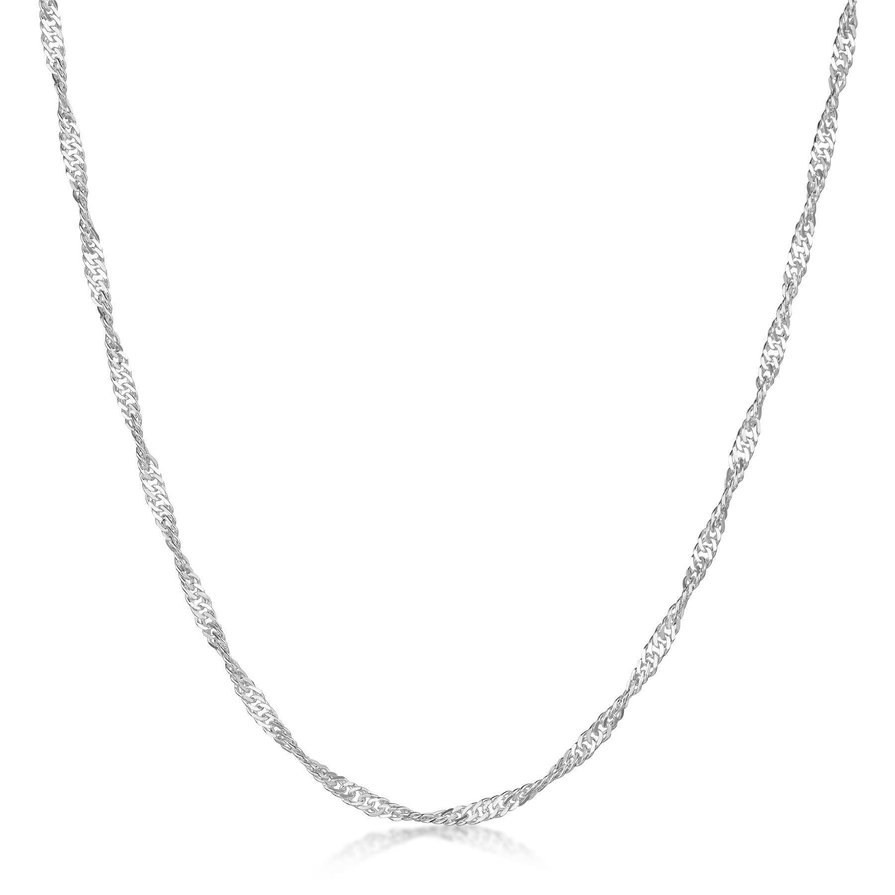 Amberta-Collar-en-Plata-De-Ley-925-Autentica-Cadena-para-Mujer-y-Hombre-Italiana miniatura 90