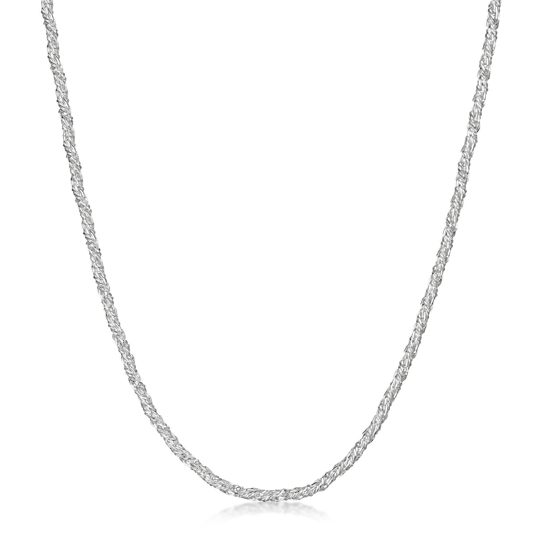 Amberta-Collar-en-Plata-De-Ley-925-Autentica-Cadena-para-Mujer-y-Hombre-Italiana miniatura 69