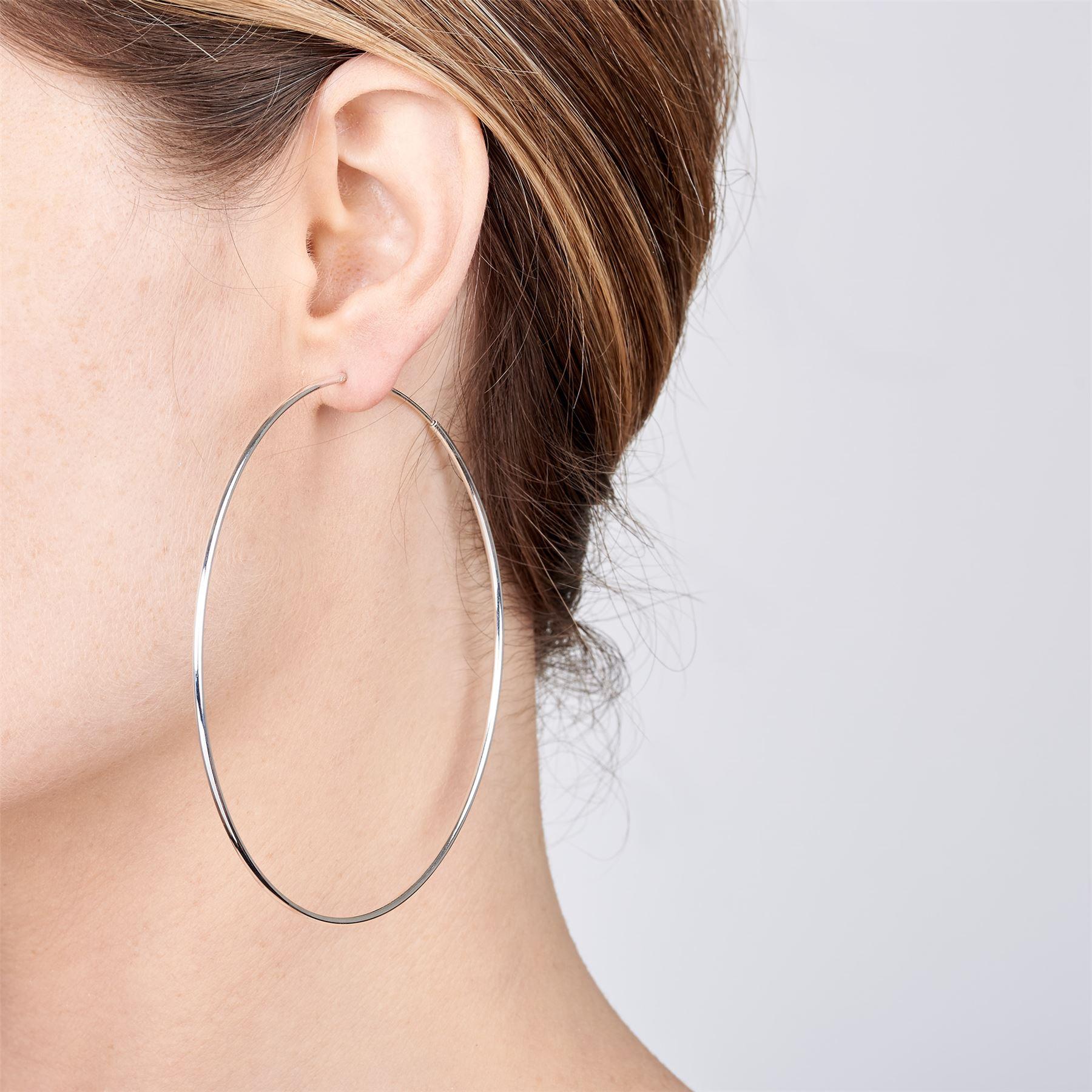 Amberta-Pendientes-para-Mujer-Aros-en-Plata-De-Ley-925-Autentica-Estilo-Clasico miniatura 50