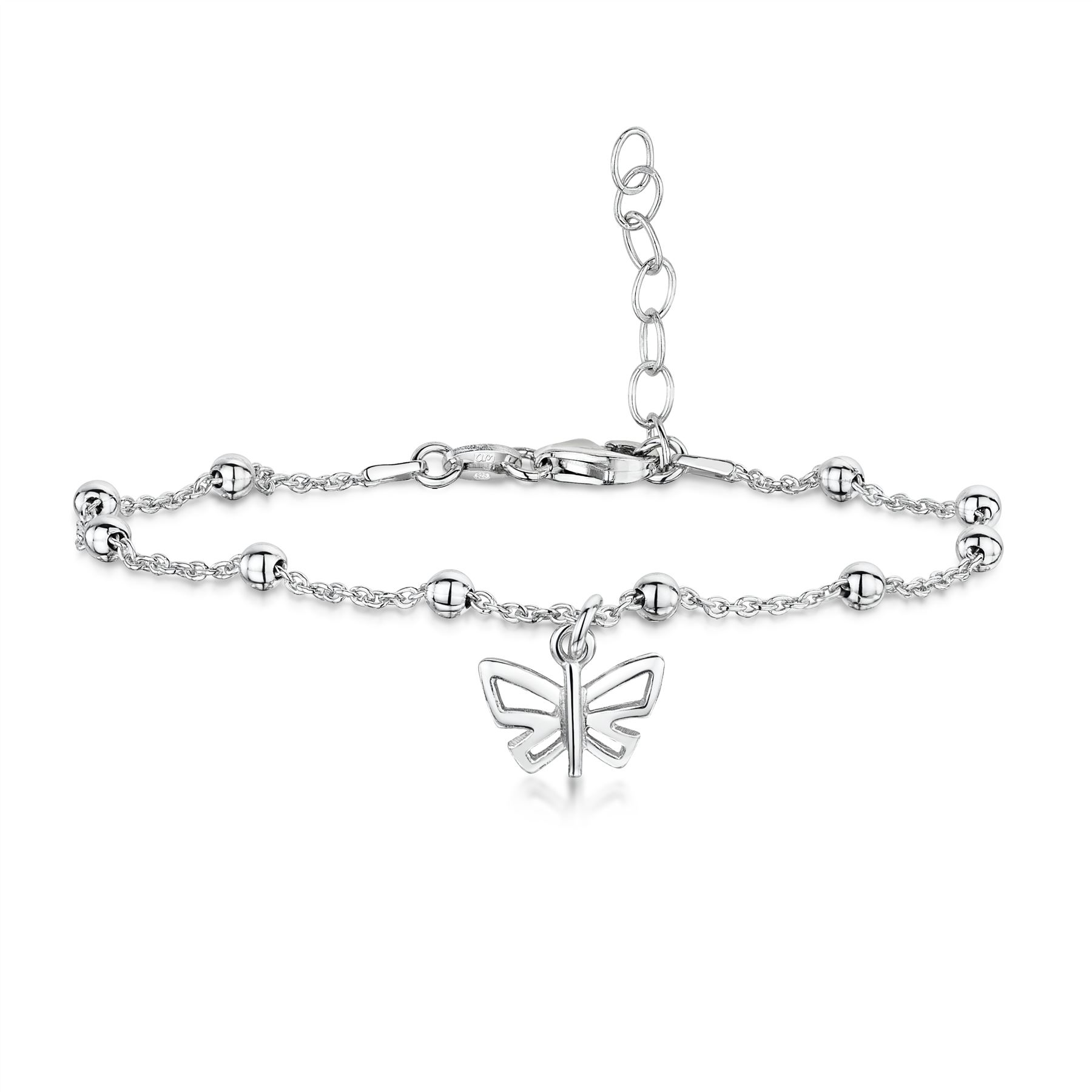 Amberta-Jewelry-925-Sterling-Silver-Adjustable-Anklet-for-Women-Made-in-Italy miniature 24