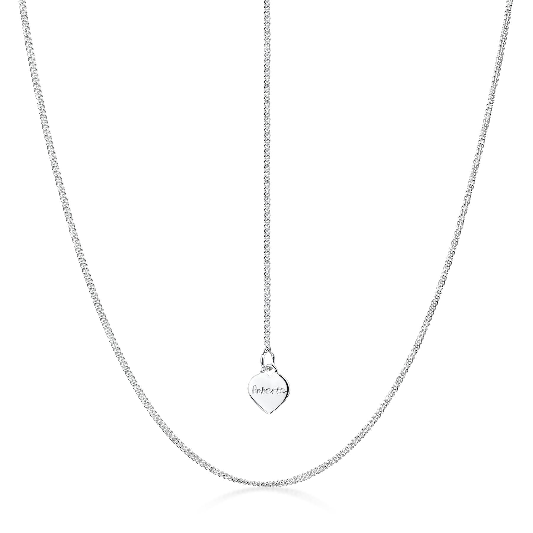 Amberta-Collar-en-Fina-Plata-de-Ley-925-Cadena-de-Corazon-Ajustable-para-Mujer miniatura 13
