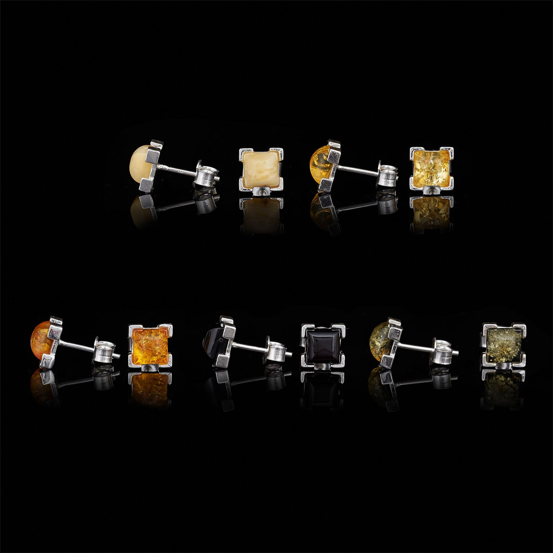 Amberta-Genuine-925-Sterling-Silver-Earrings-with-Natural-Baltic-Amber-Gemstone thumbnail 71