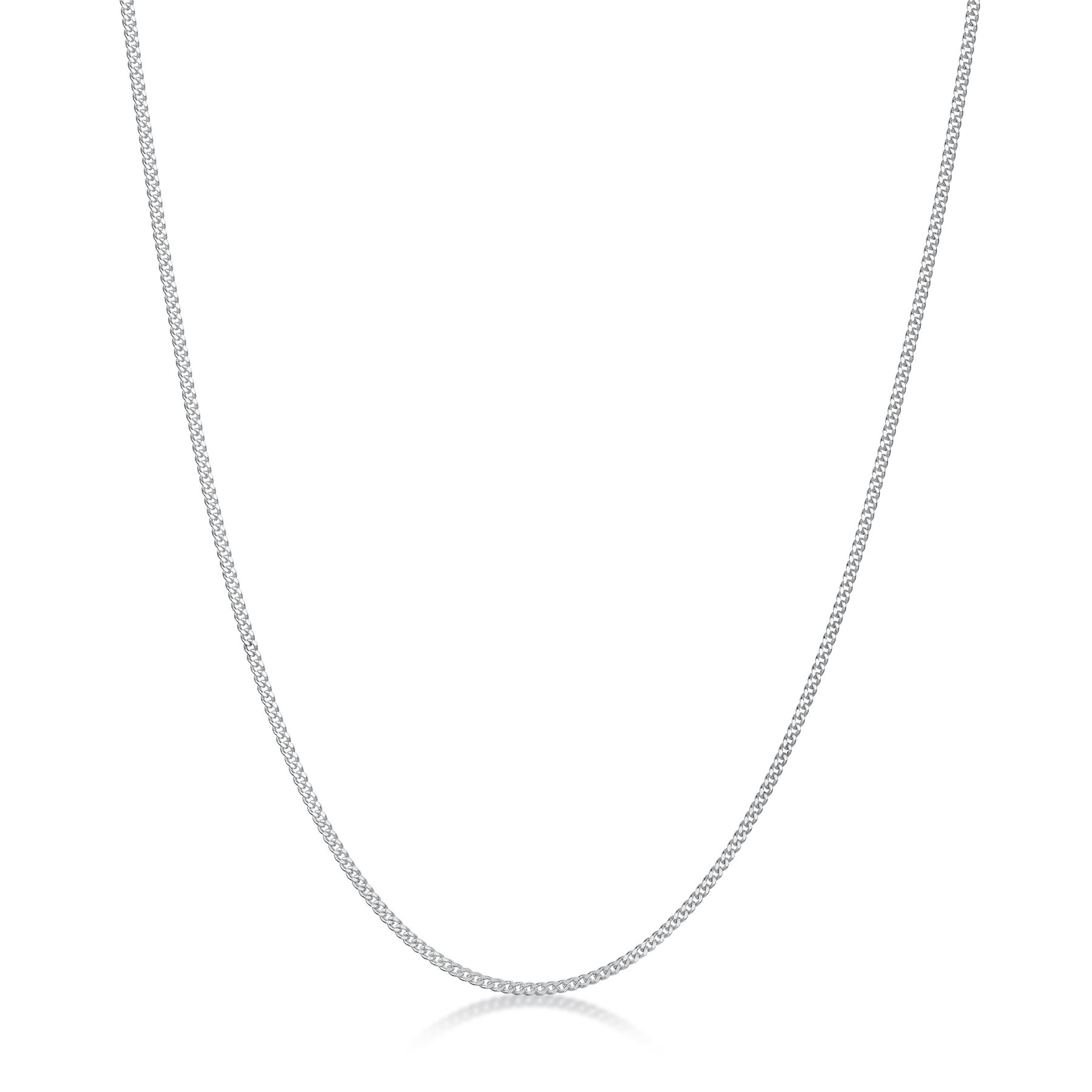 Amberta-Genuine-Real-925-Sterling-Silver-Long-Curb-Necklace-Chain-Made-in-Italy thumbnail 3