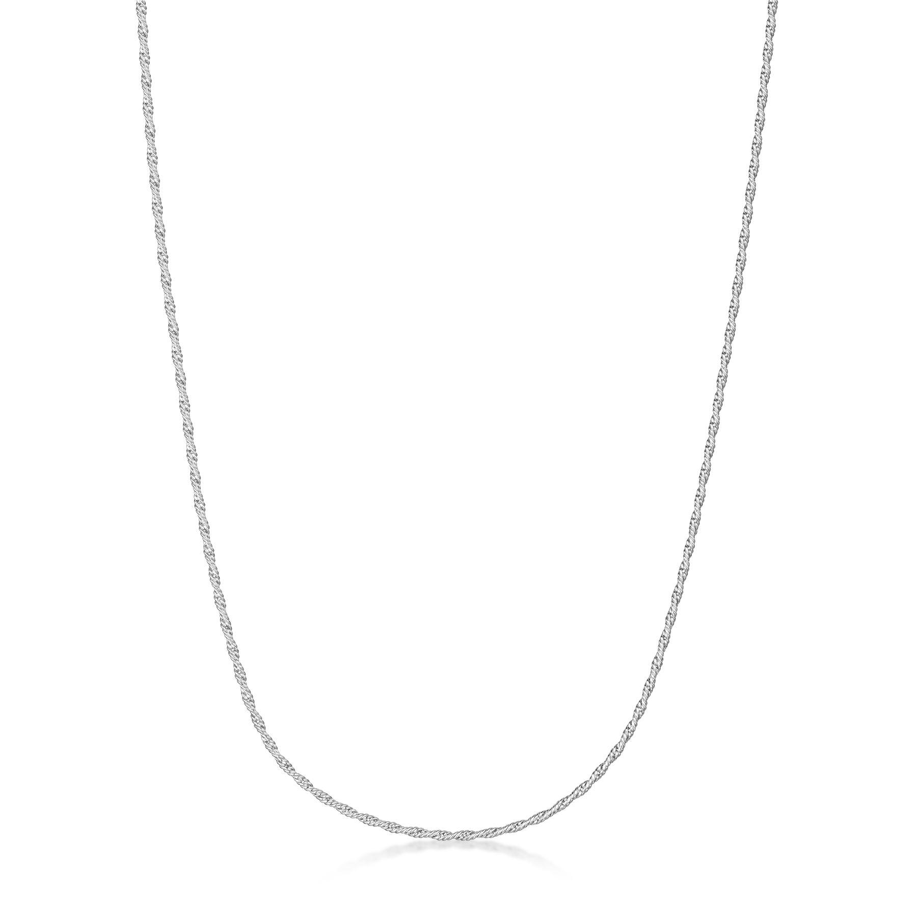 Amberta-Collar-en-Plata-De-Ley-925-Autentica-Cadena-para-Mujer-y-Hombre-Italiana miniatura 27