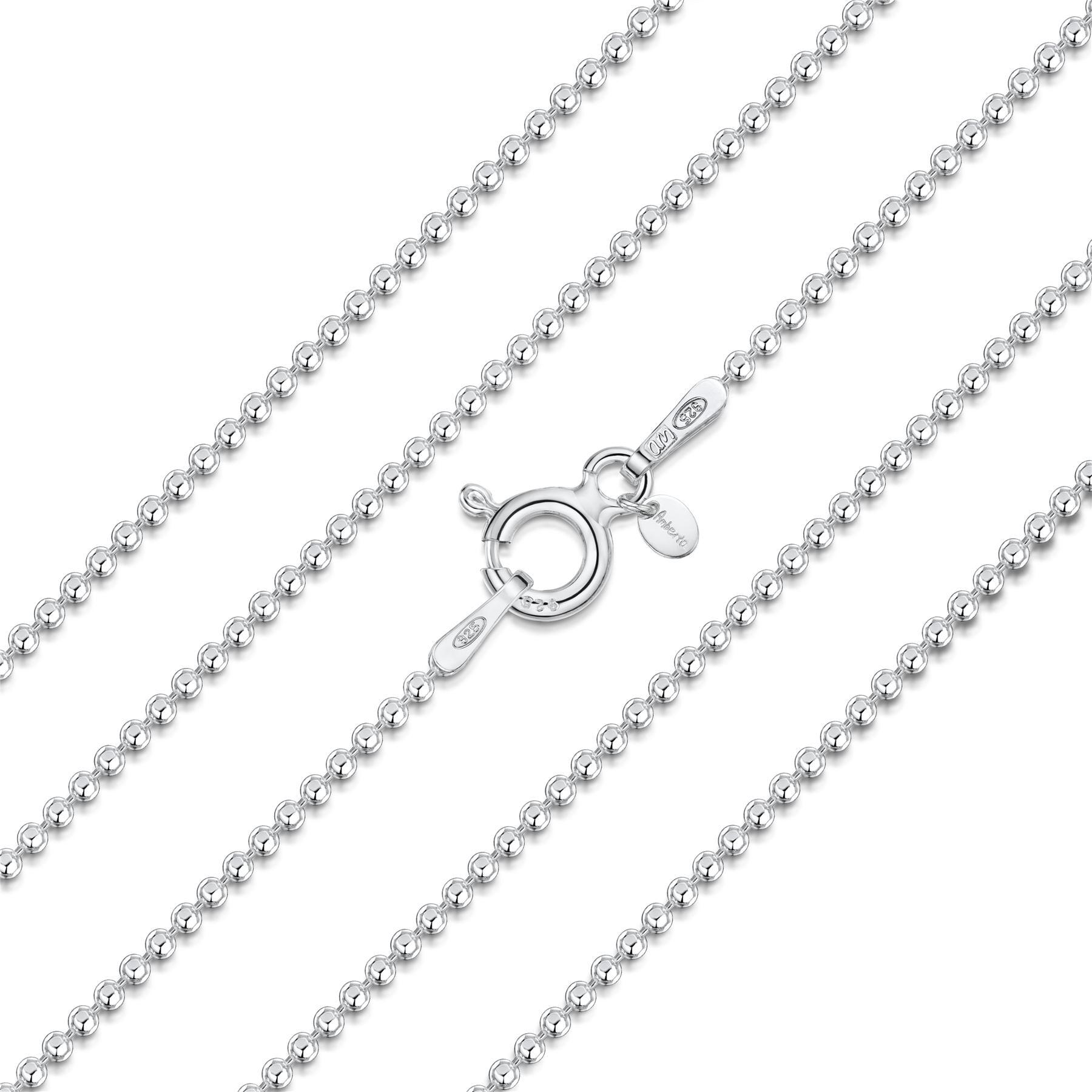 Amberta-Collar-en-Plata-De-Ley-925-Autentica-Cadena-para-Mujer-y-Hombre-Italiana miniatura 32