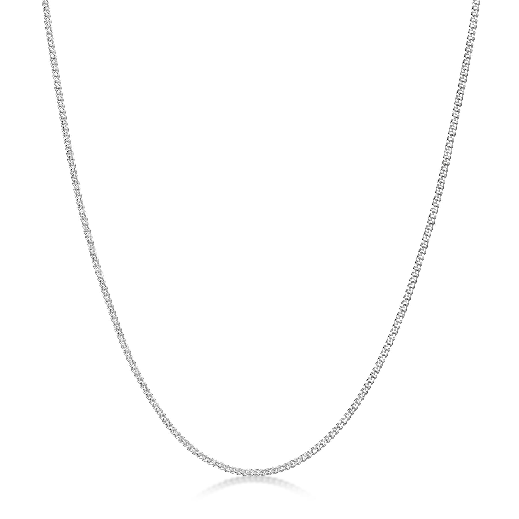 Amberta-Genuine-Real-925-Sterling-Silver-Long-Curb-Necklace-Chain-Made-in-Italy thumbnail 6