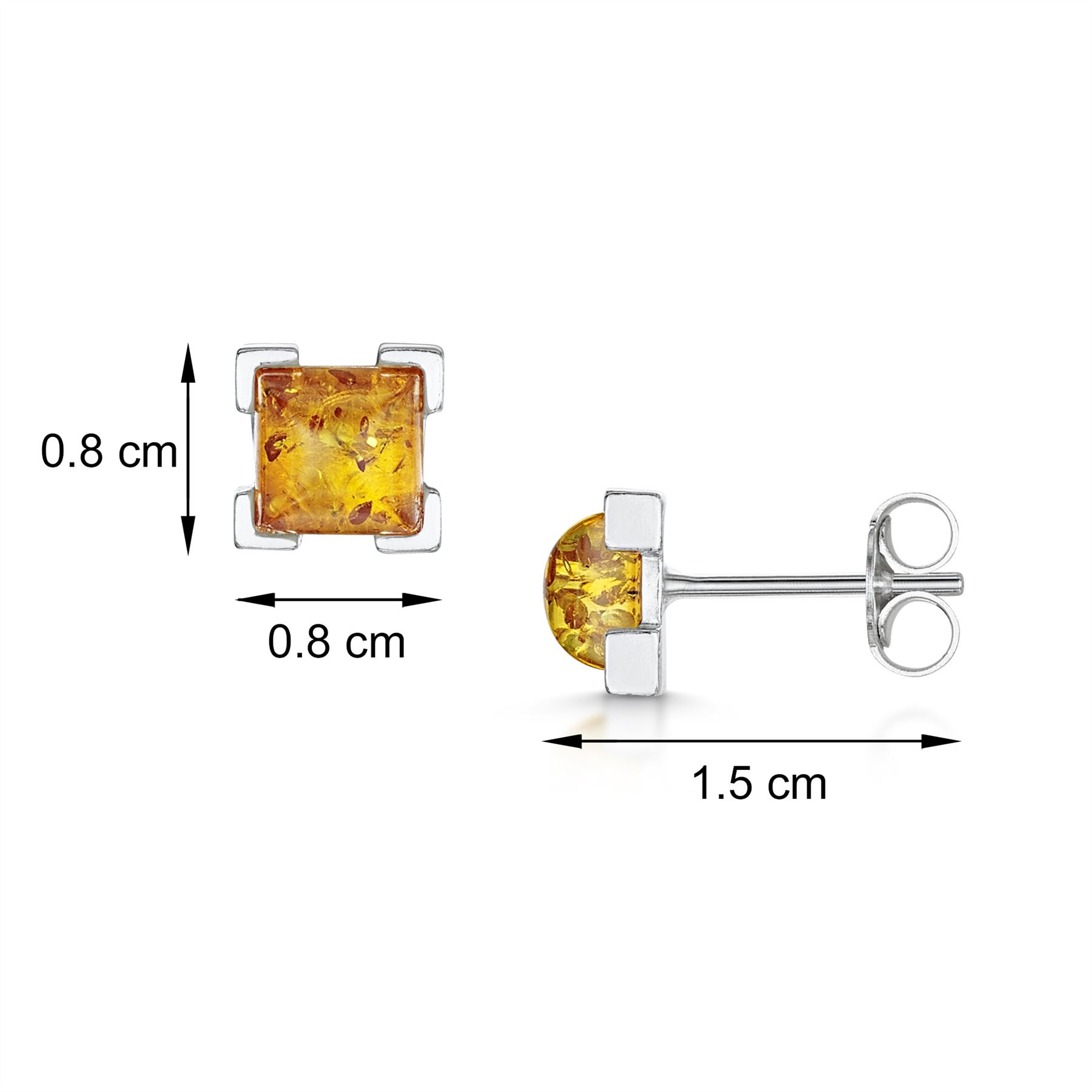 Amberta-Genuine-925-Sterling-Silver-Earrings-with-Natural-Baltic-Amber-Gemstone thumbnail 74