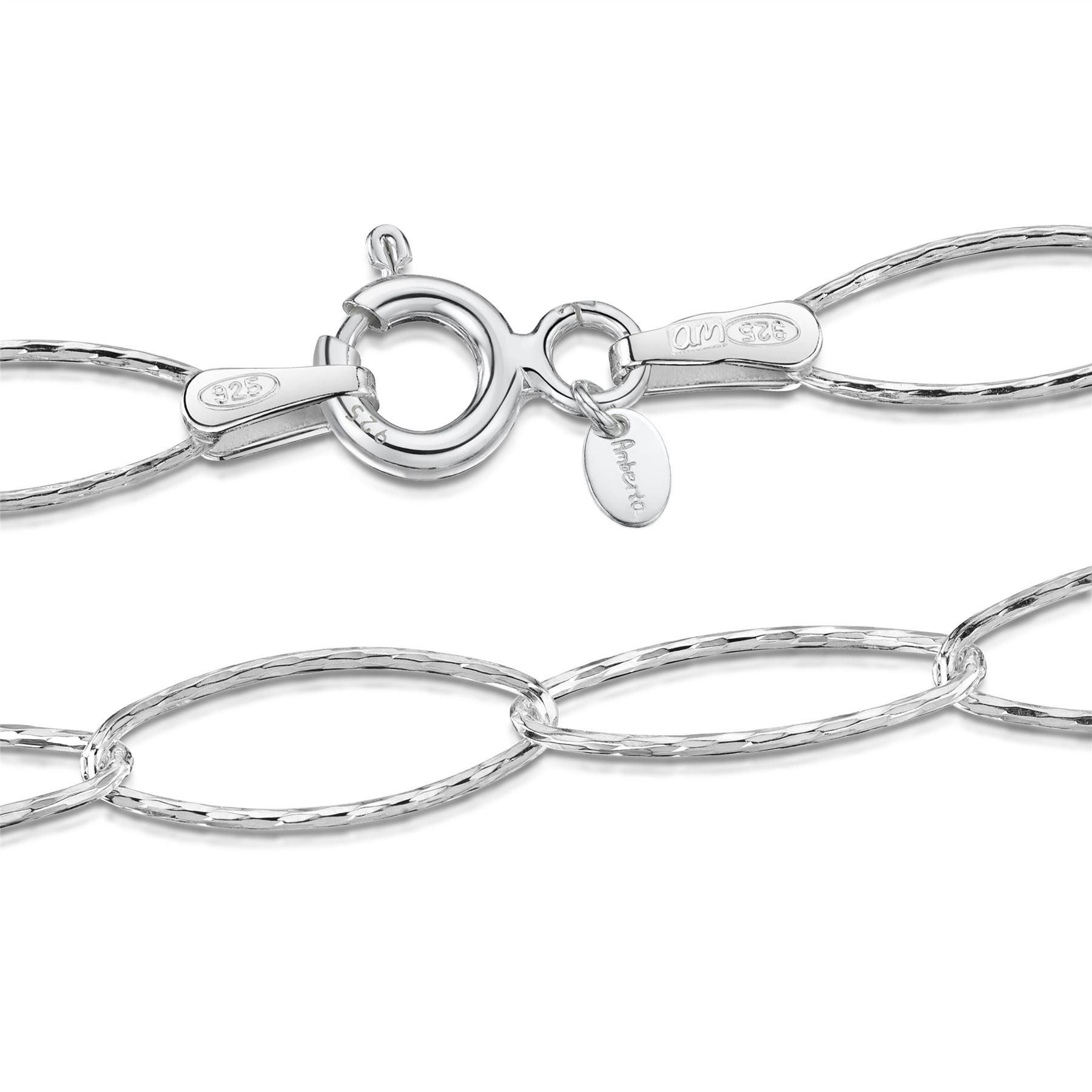 Amberta-Jewelry-925-Sterling-Silver-Adjustable-Anklet-Foot-Bracelet-for-Women miniature 52
