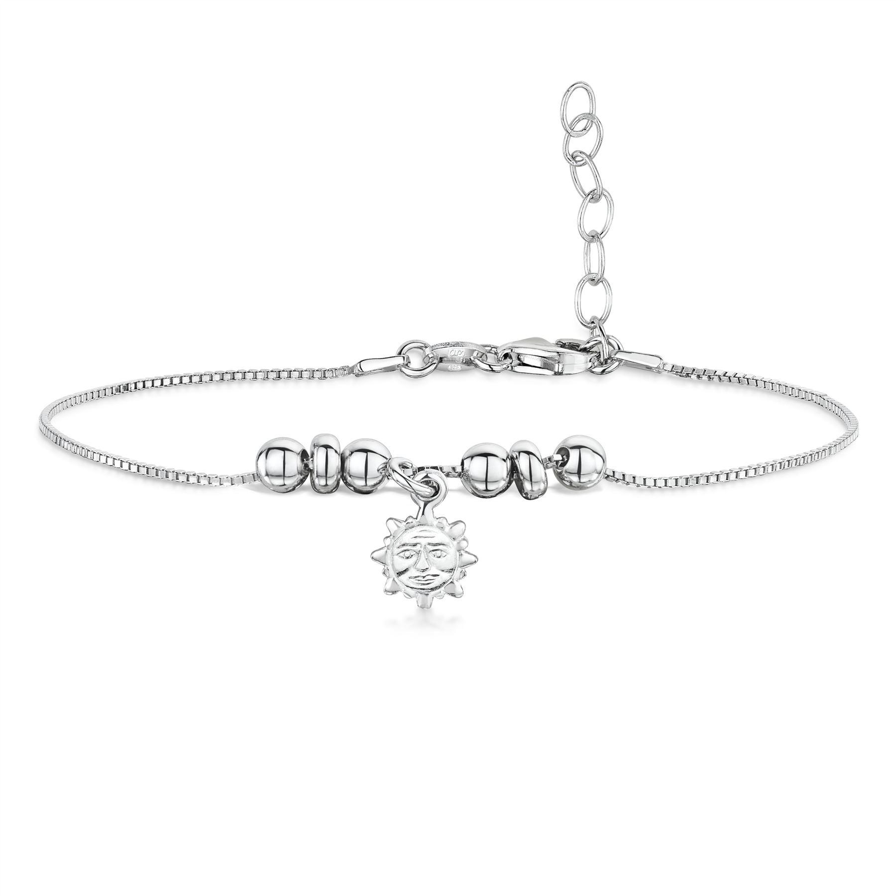 Amberta-Jewelry-925-Sterling-Silver-Adjustable-Bracelet-Italian-Bangle-for-Women thumbnail 9