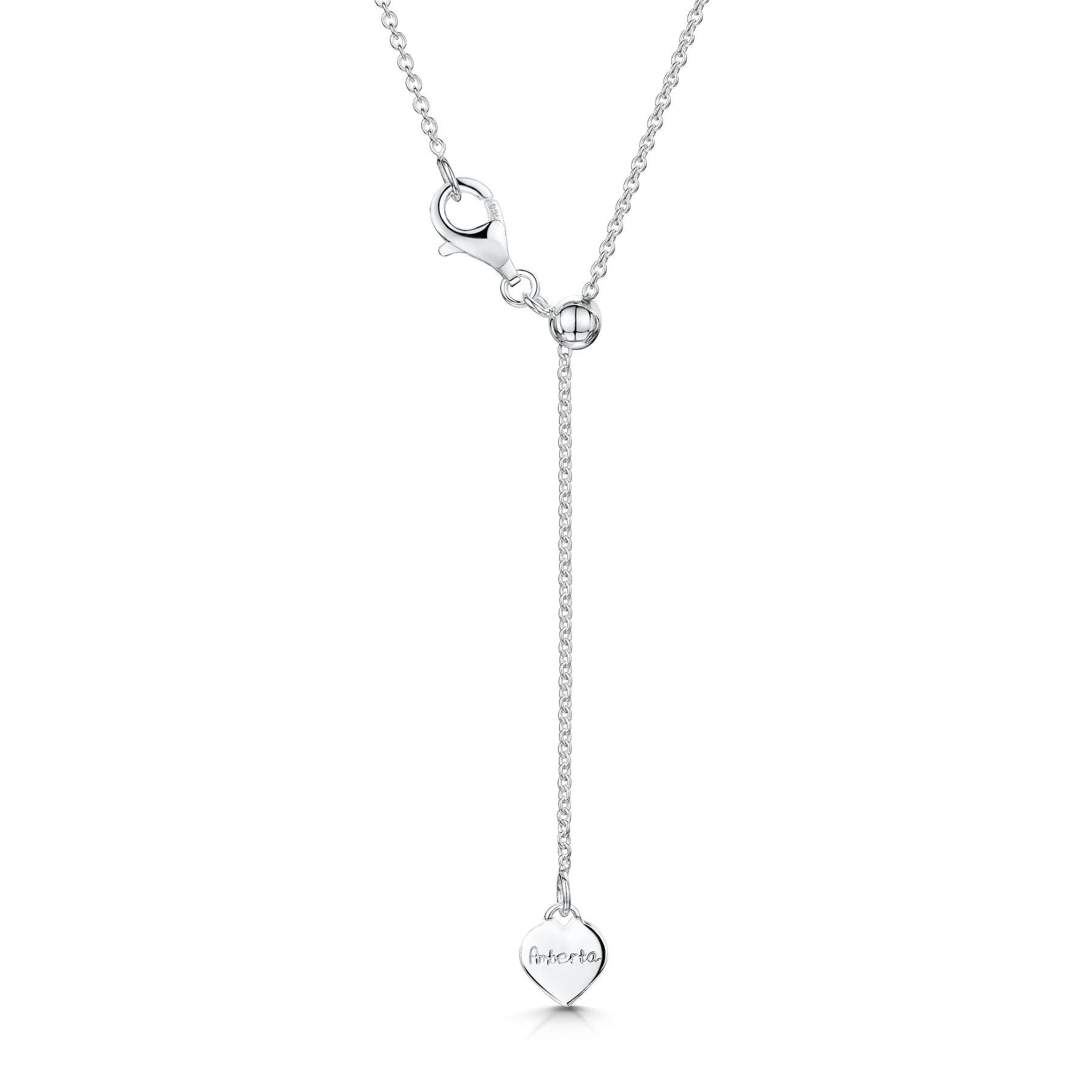 Amberta-Collar-en-Fina-Plata-de-Ley-925-Cadena-de-Corazon-Ajustable-para-Mujer miniatura 5