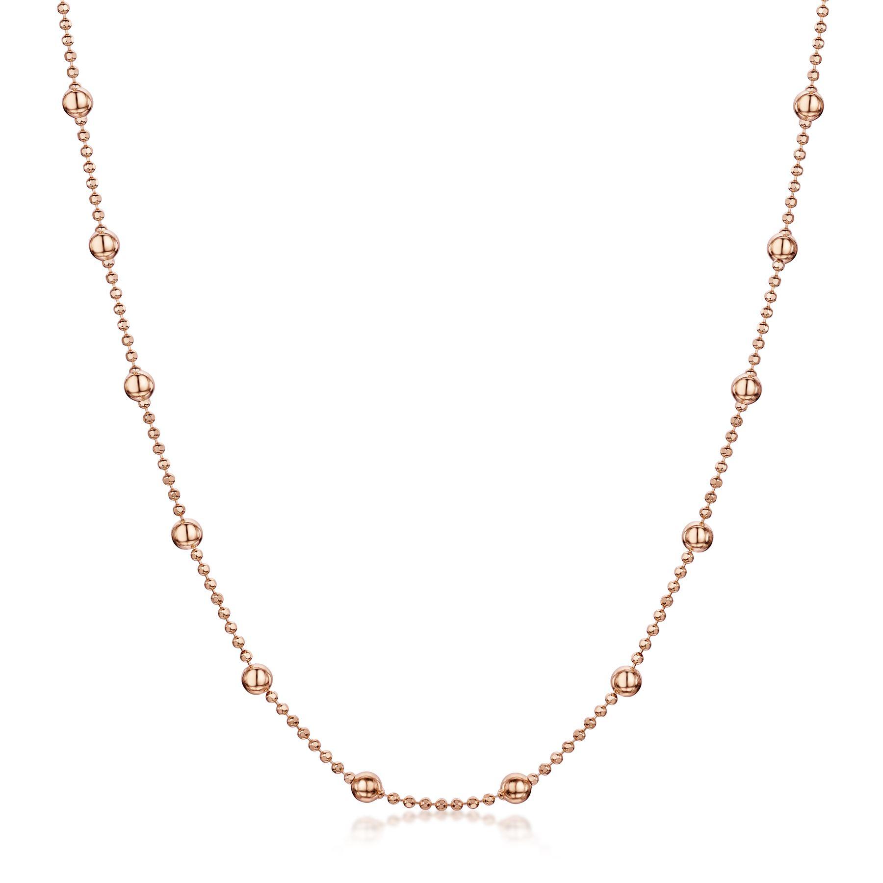 Amberta-Collar-en-Fina-Plata-De-Ley-925-y-Chapado-Oro-Rosa-14k-Cadena-para-Mujer miniatura 7