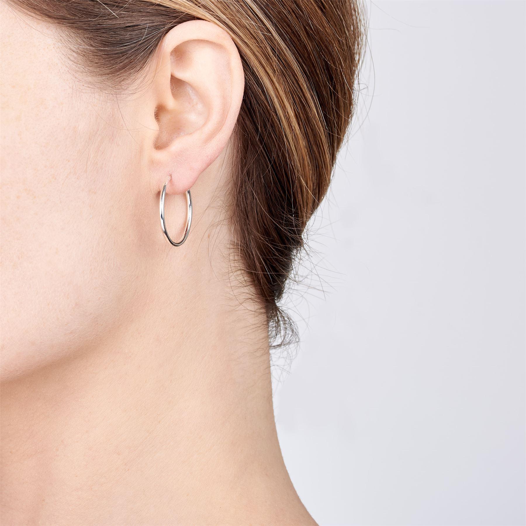 Amberta-Pendientes-para-Mujer-Aros-en-Plata-De-Ley-925-Autentica-Estilo-Clasico miniatura 20