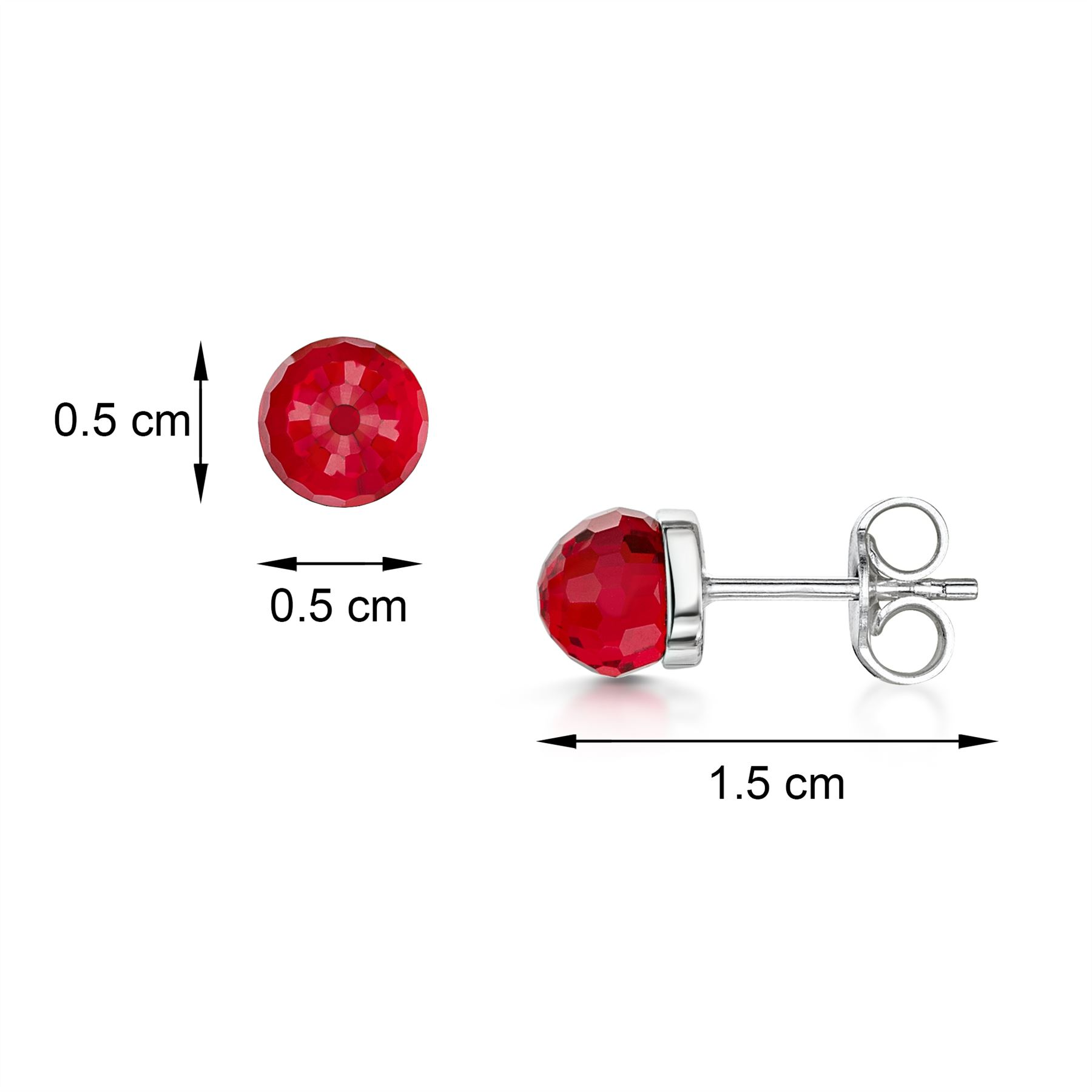 Amberta-925-Sterling-Silver-Earrings-Pair-of-Studs-for-Women-with-5-mm-Gemstones thumbnail 9