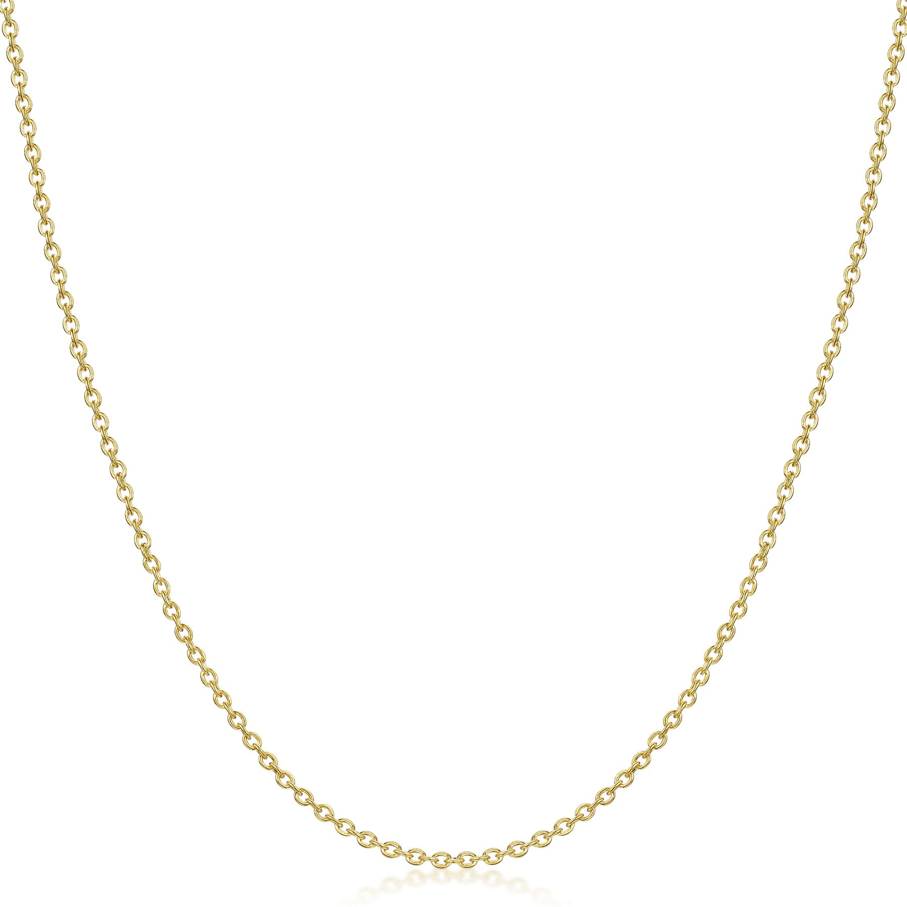 Amberta-Genuine-Real-Yellow-Gold-9K-Solid-Strong-Adjustable-Necklace-Chain-Italy thumbnail 3