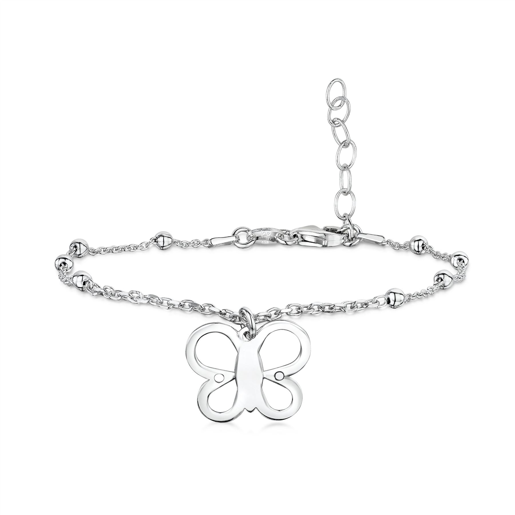 Amberta-Jewelry-925-Sterling-Silver-Adjustable-Anklet-for-Women-Made-in-Italy miniature 33