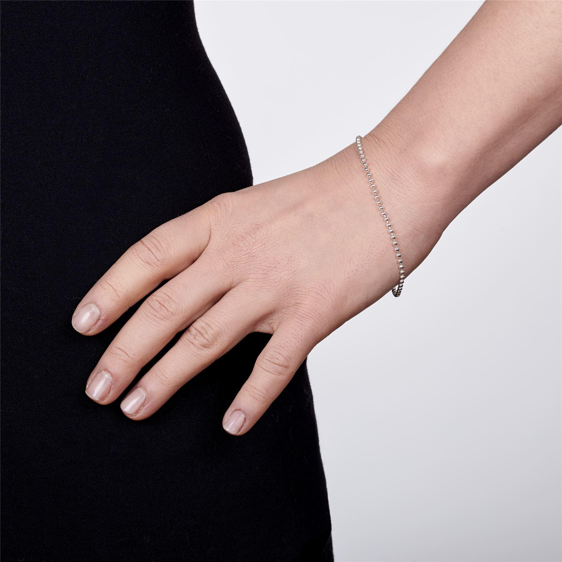 Amberta-Bijoux-Bracelet-en-Vrai-Argent-Sterling-925-Chaine-pour-Femme-a-la-Mode thumbnail 45