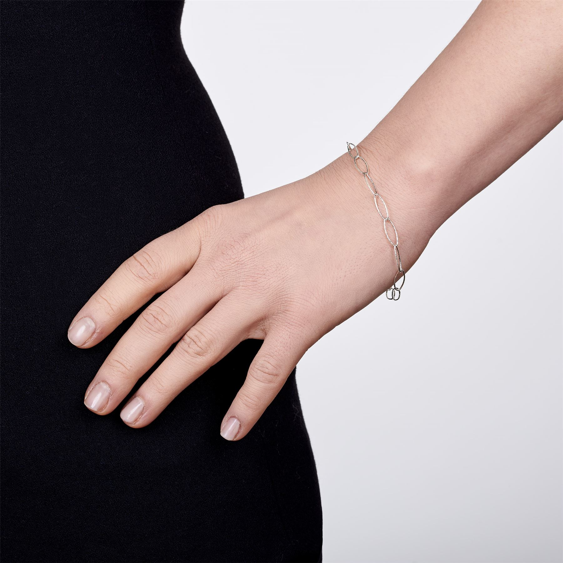 Amberta-Bijoux-Bracelet-en-Vrai-Argent-Sterling-925-Chaine-pour-Femme-a-la-Mode thumbnail 111